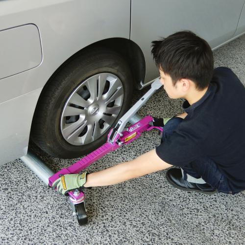 タイヤ幅に調整