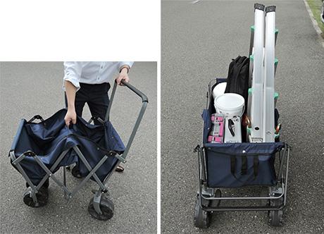 【ESCOオリジナル】折りたたみ式キャリーカート-イメージ01