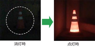 【ウエイト一体型】伸縮式LEDライトコーン-イメージ02