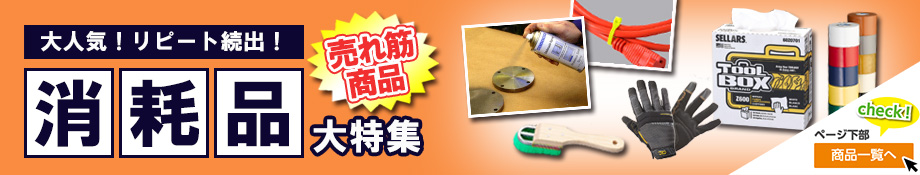 【ESCO特選】消耗品大特集