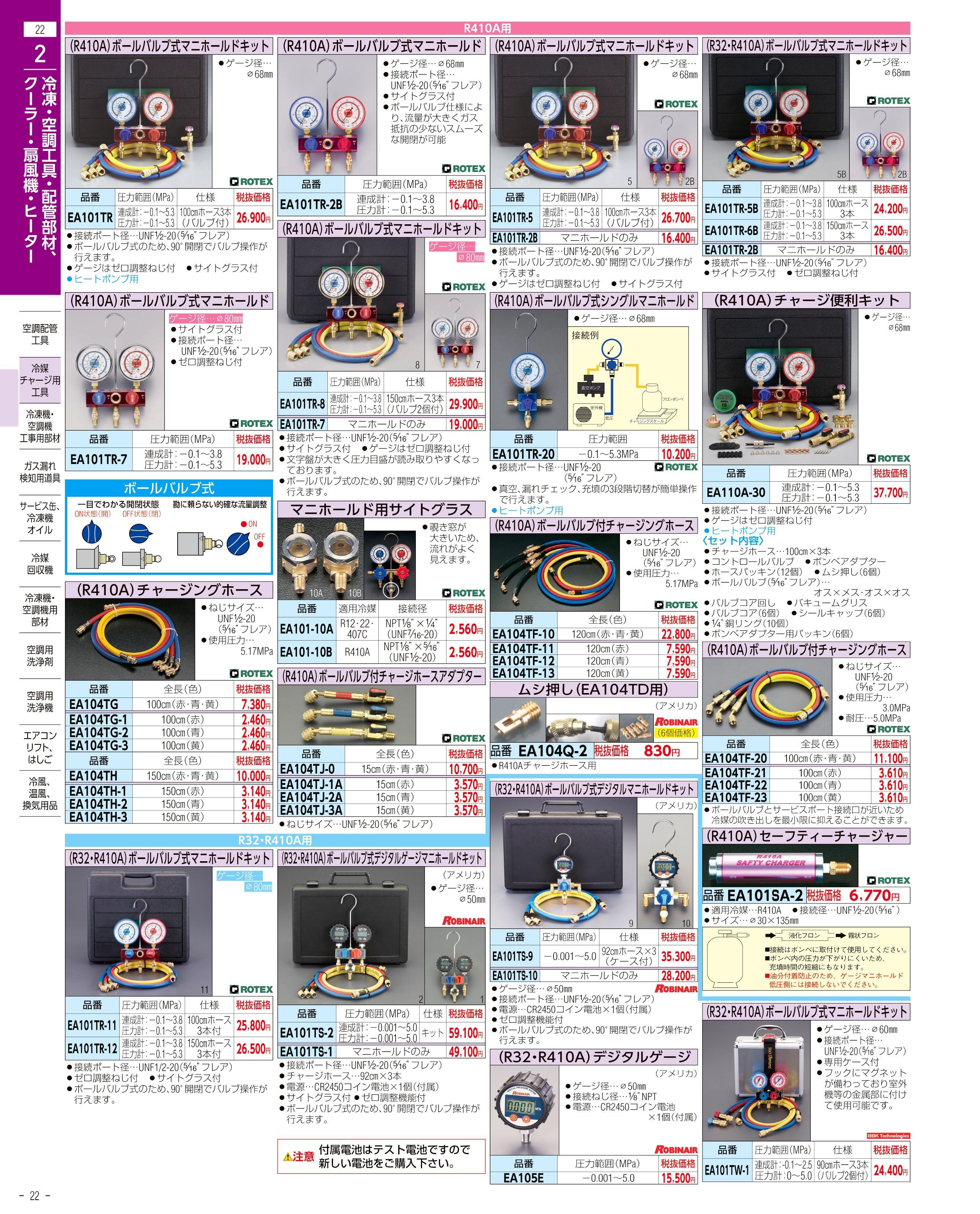 エスコ便利カタログ22ページ
