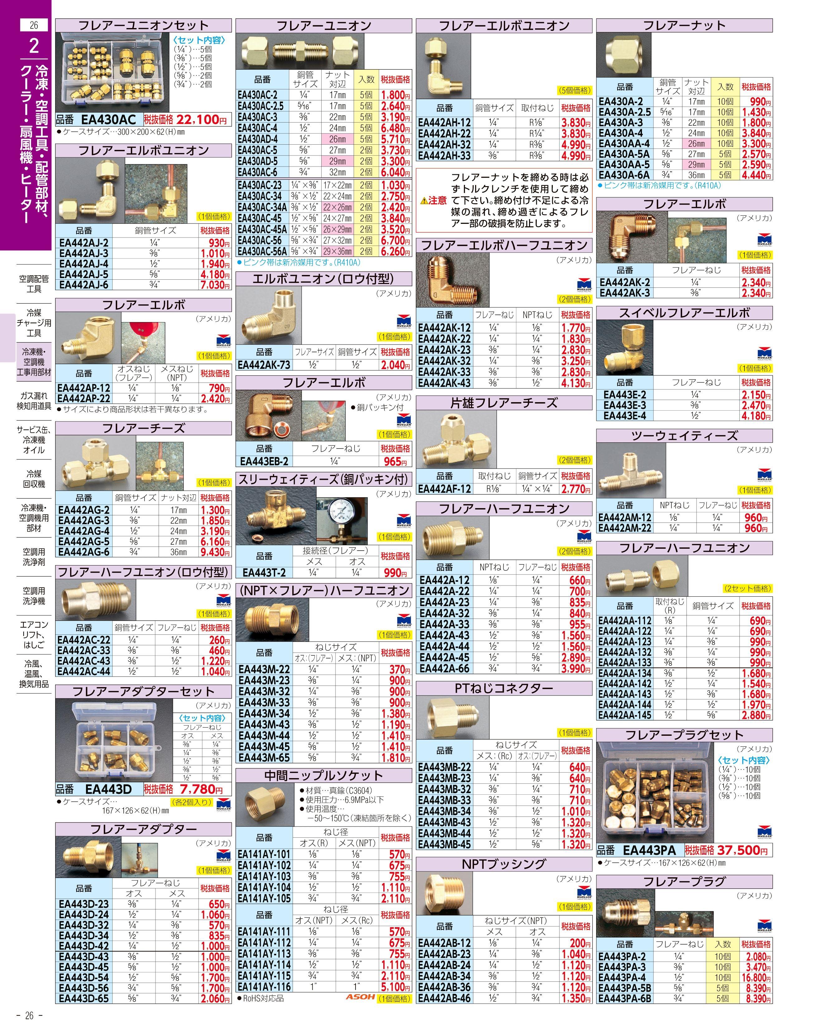 エスコ便利カタログ26ページ