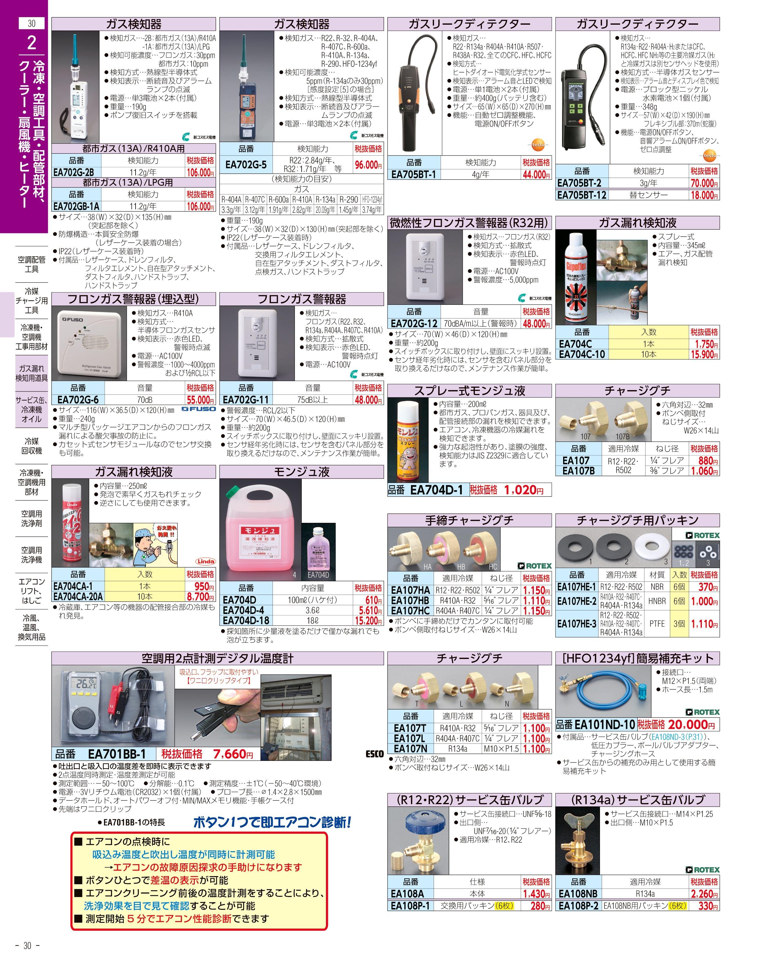エスコ便利カタログ30ページ
