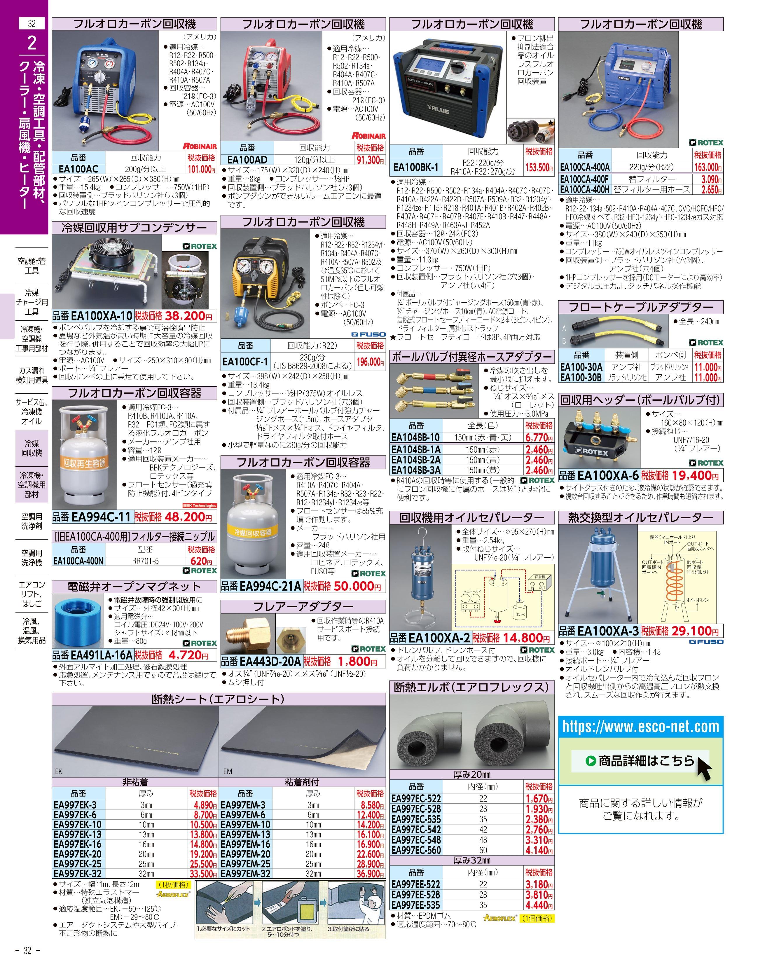 エスコ便利カタログ32ページ
