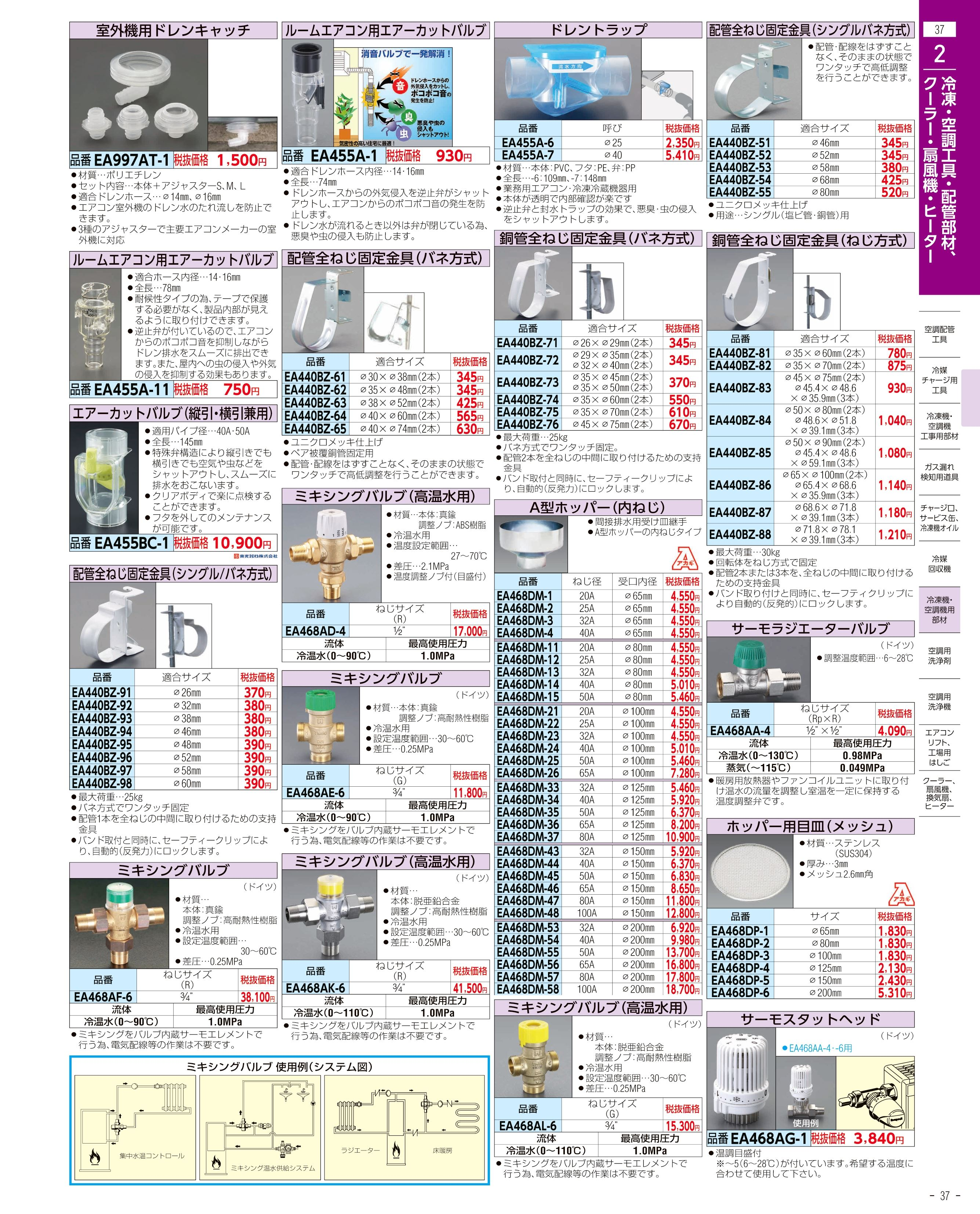 エスコ便利カタログ37ページ