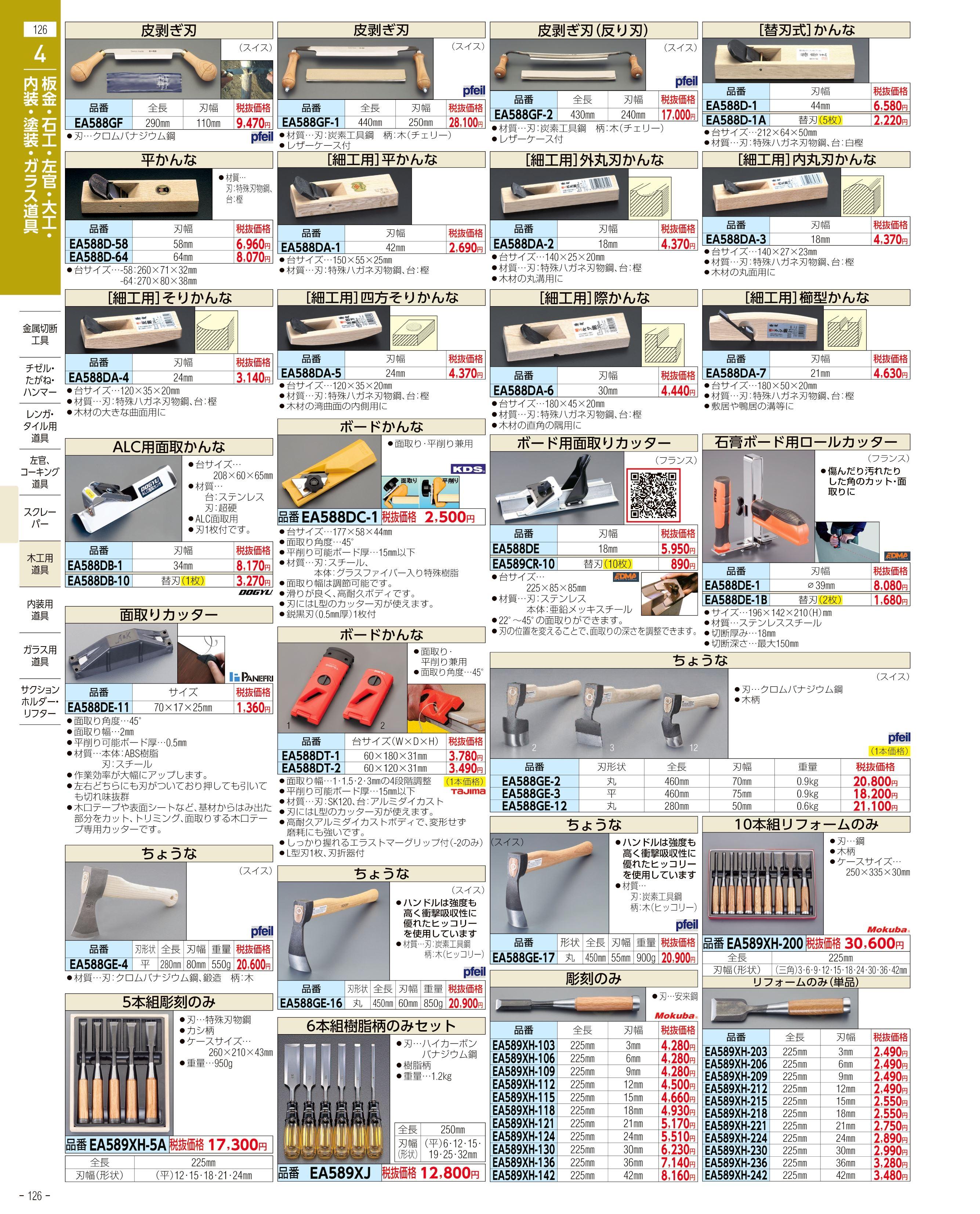 エスコ便利カタログ126ページ