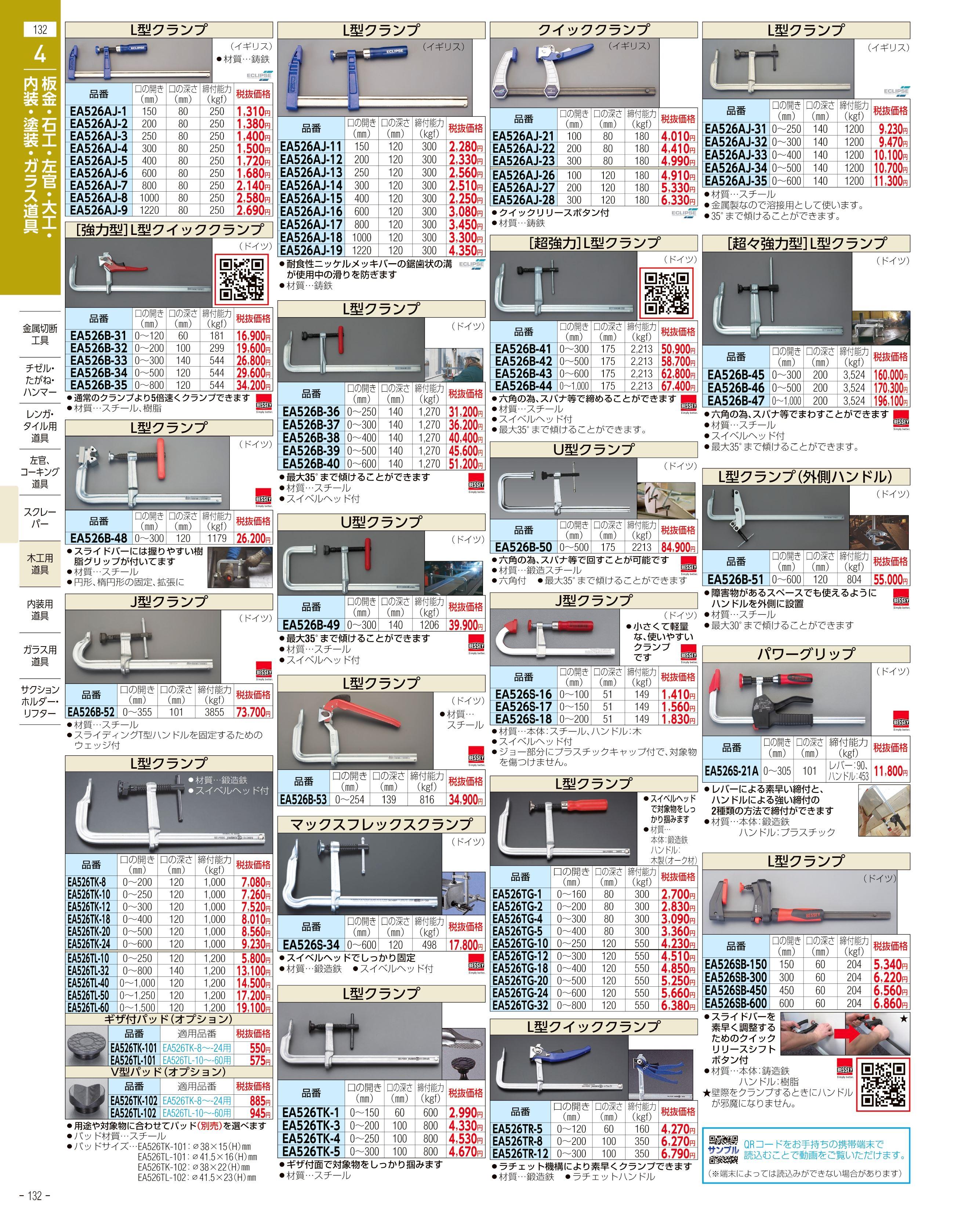 エスコ便利カタログ132ページ