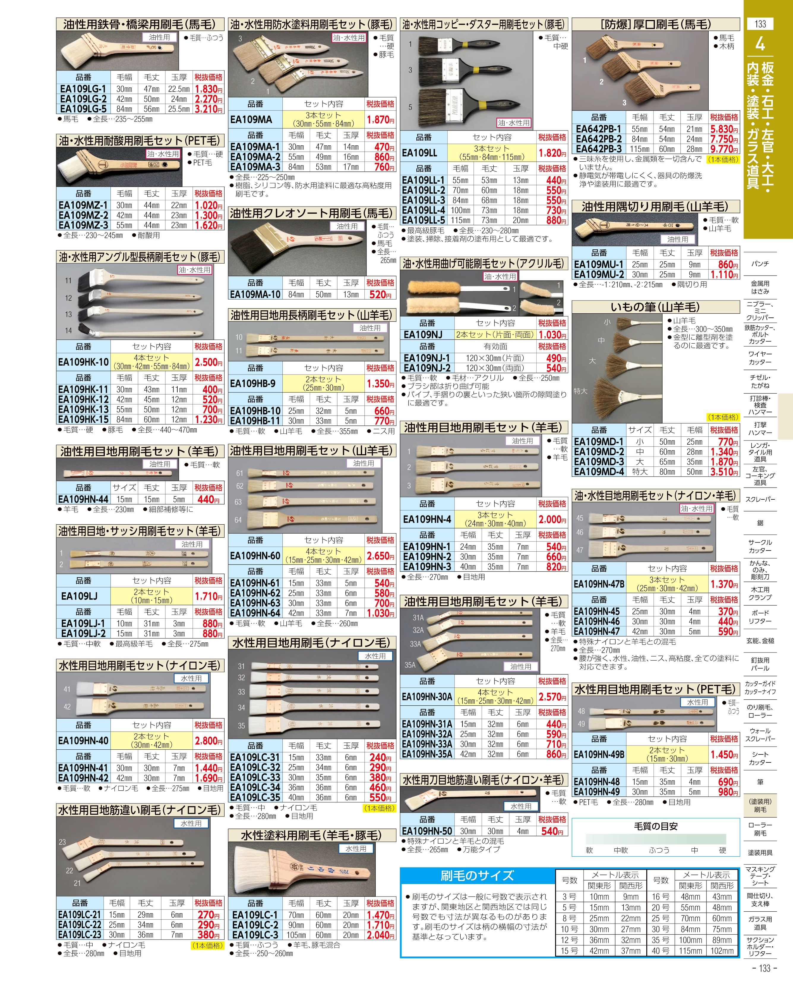 エスコ便利カタログ133ページ