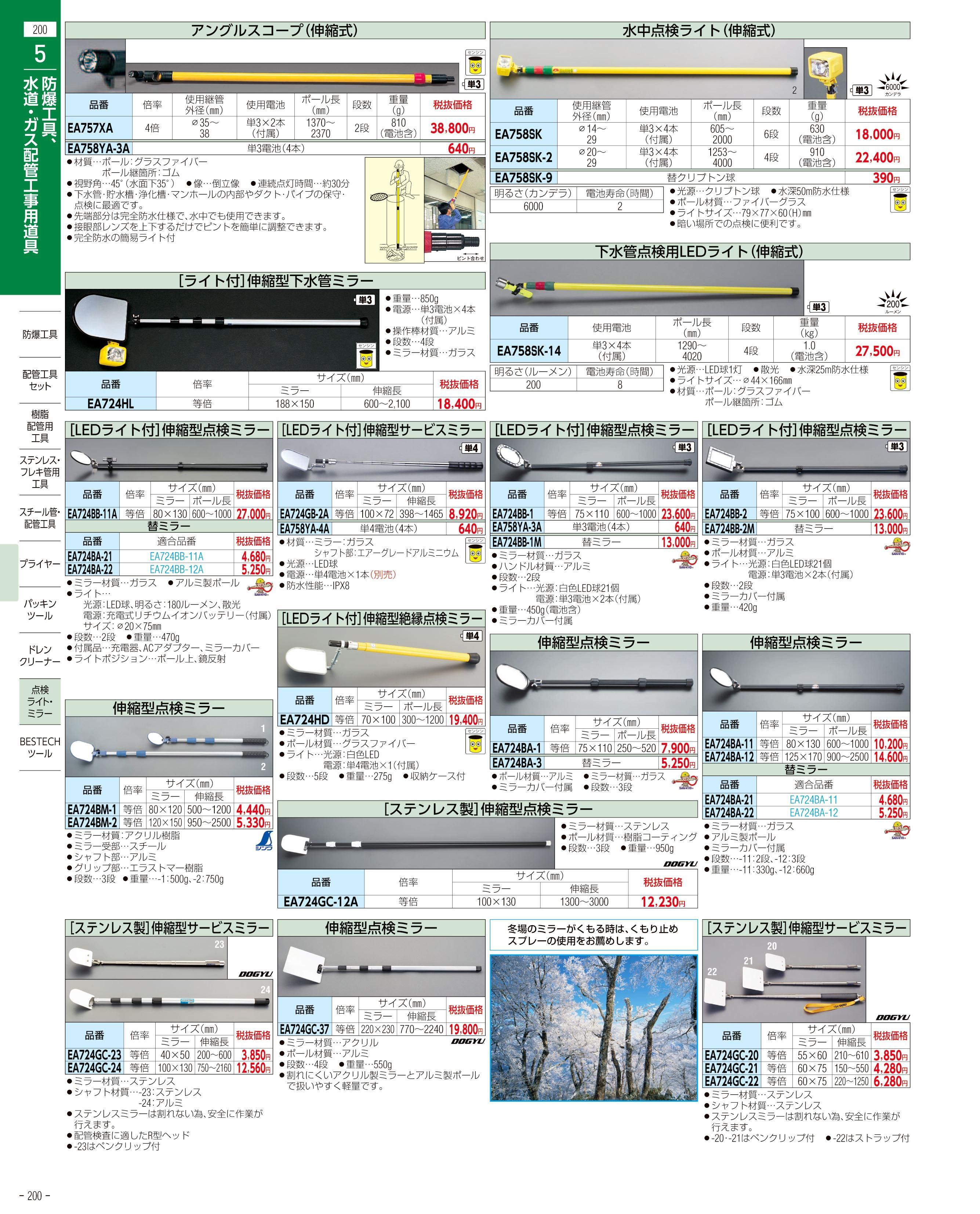 エスコ便利カタログ200ページ