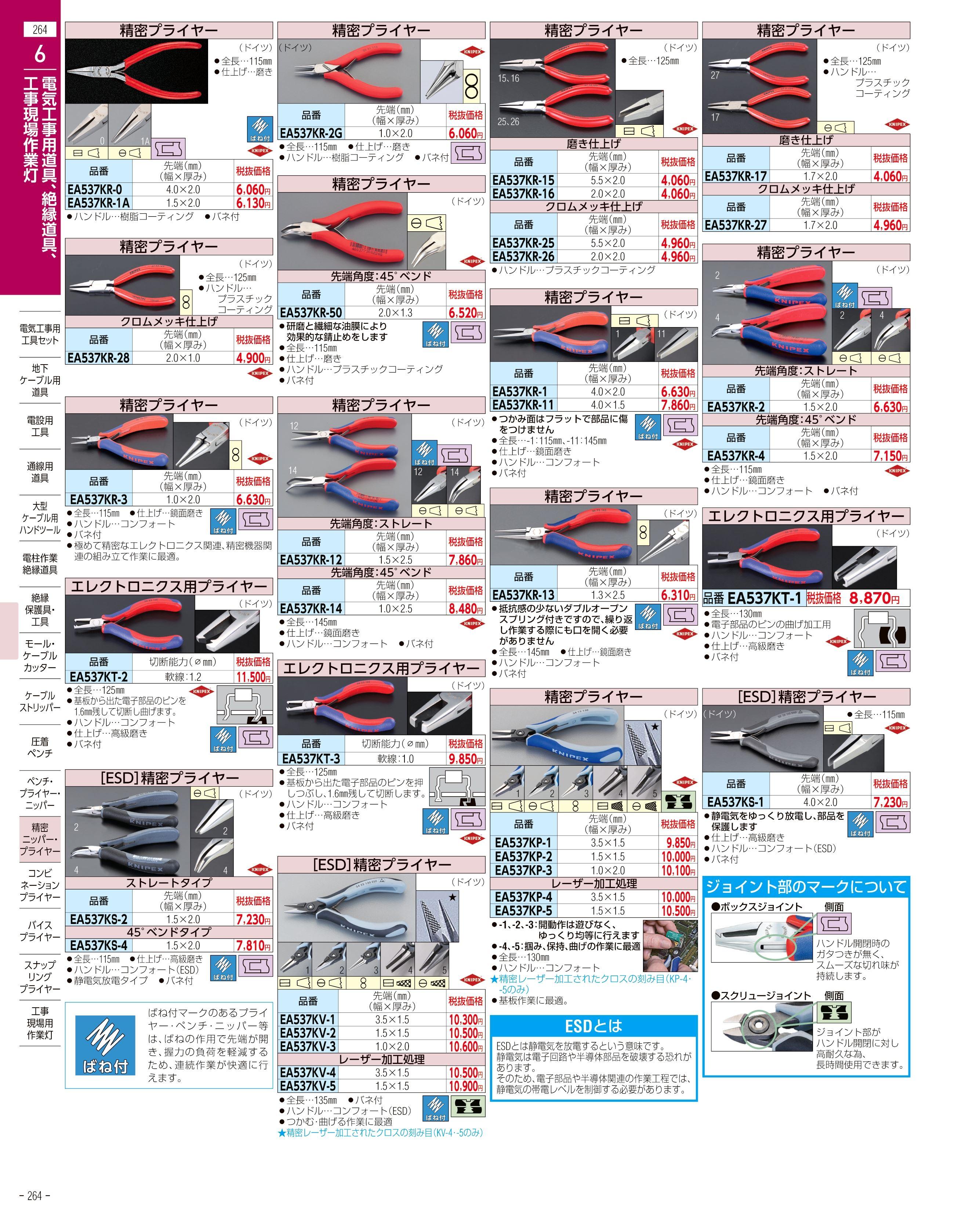 エスコ便利カタログ264ページ