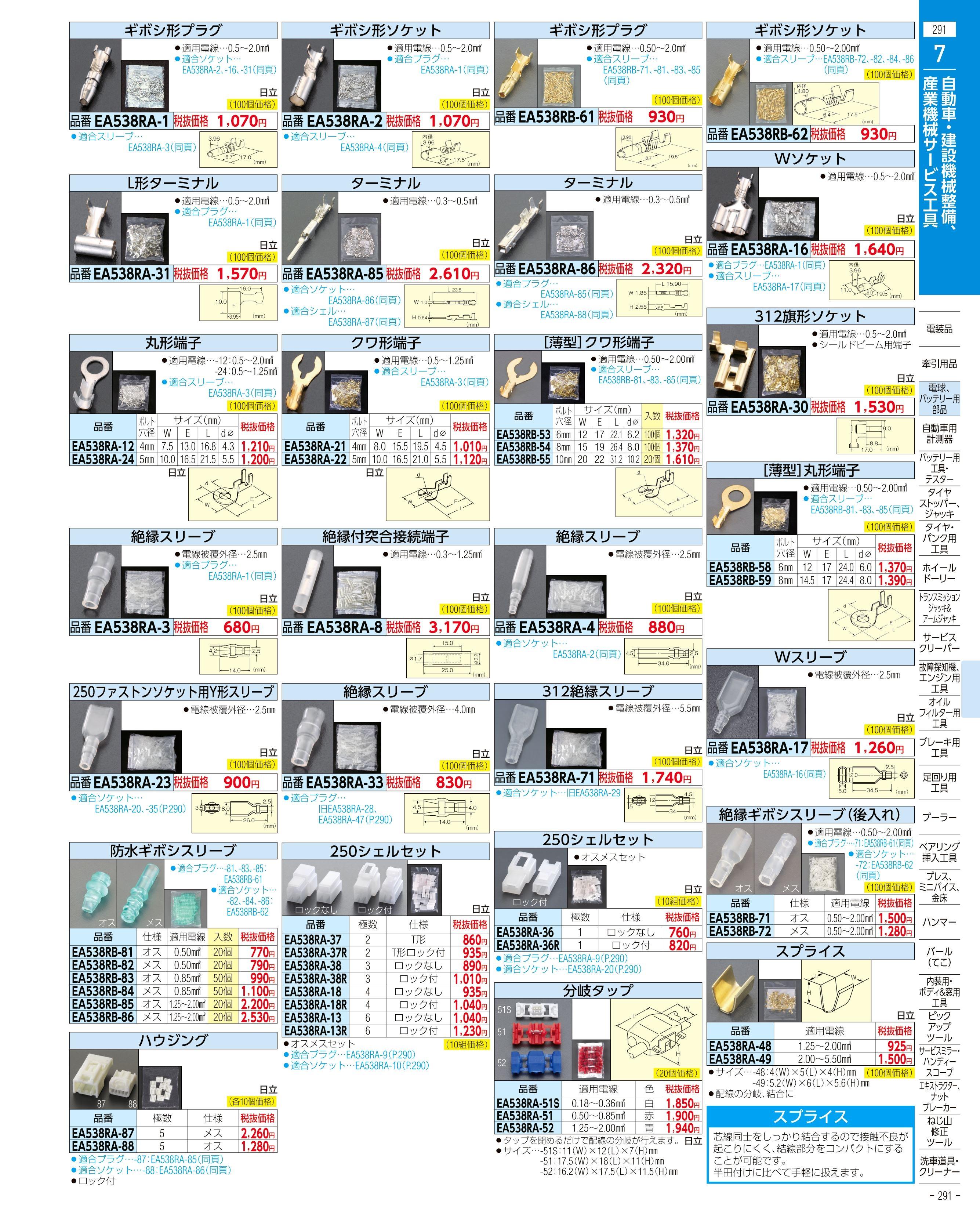 エスコ便利カタログ291ページ