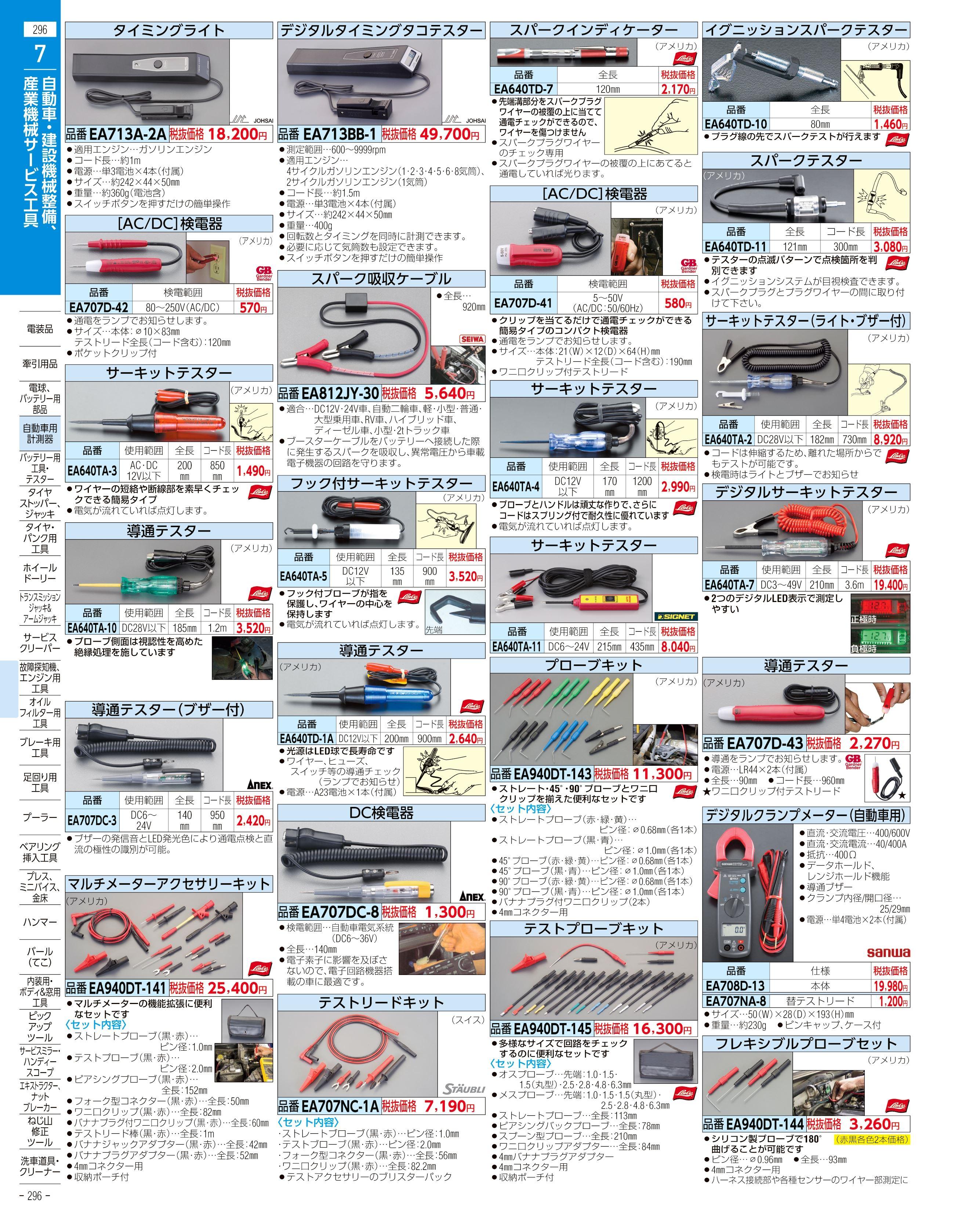 エスコ便利カタログ296ページ