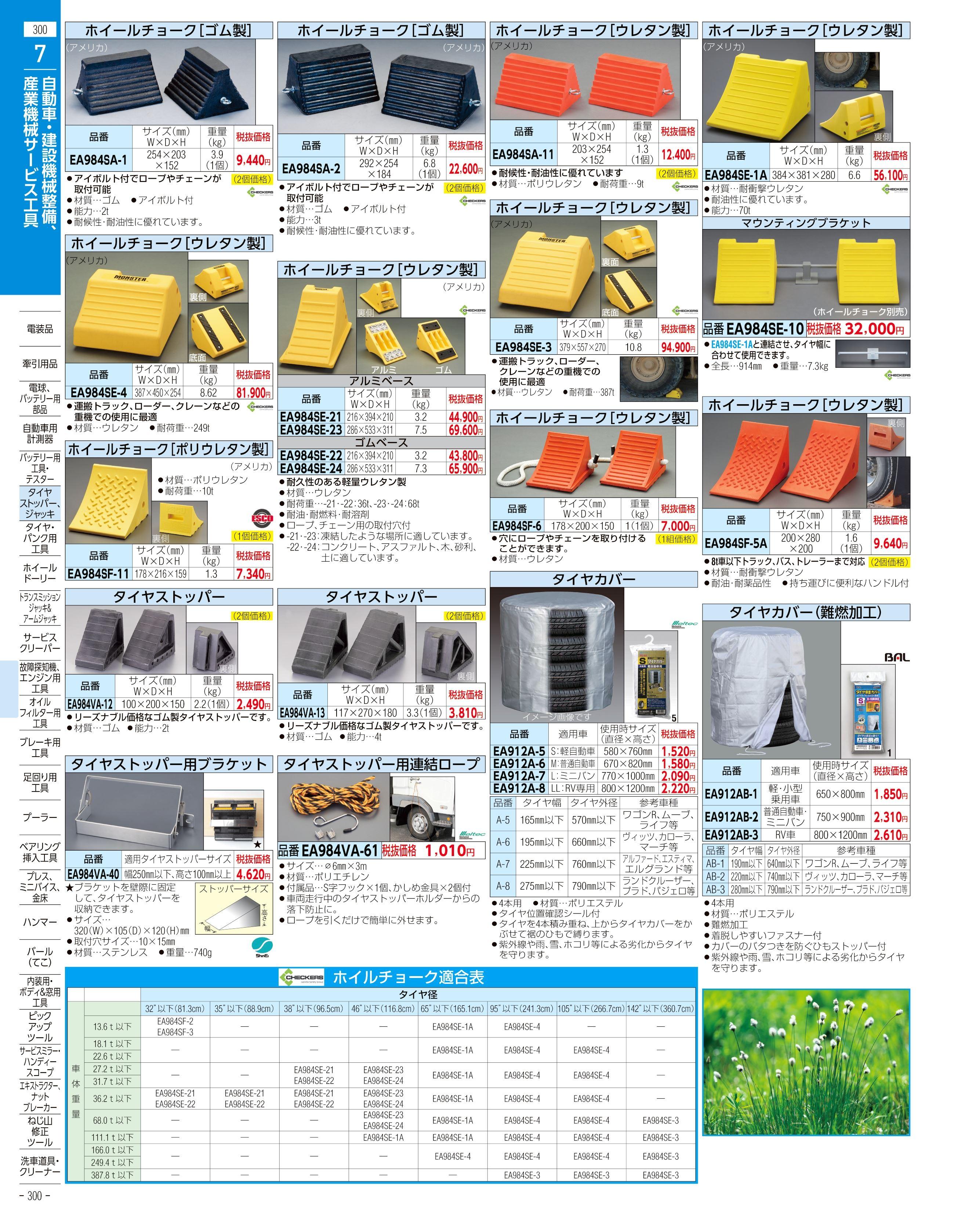 エスコ便利カタログ300ページ