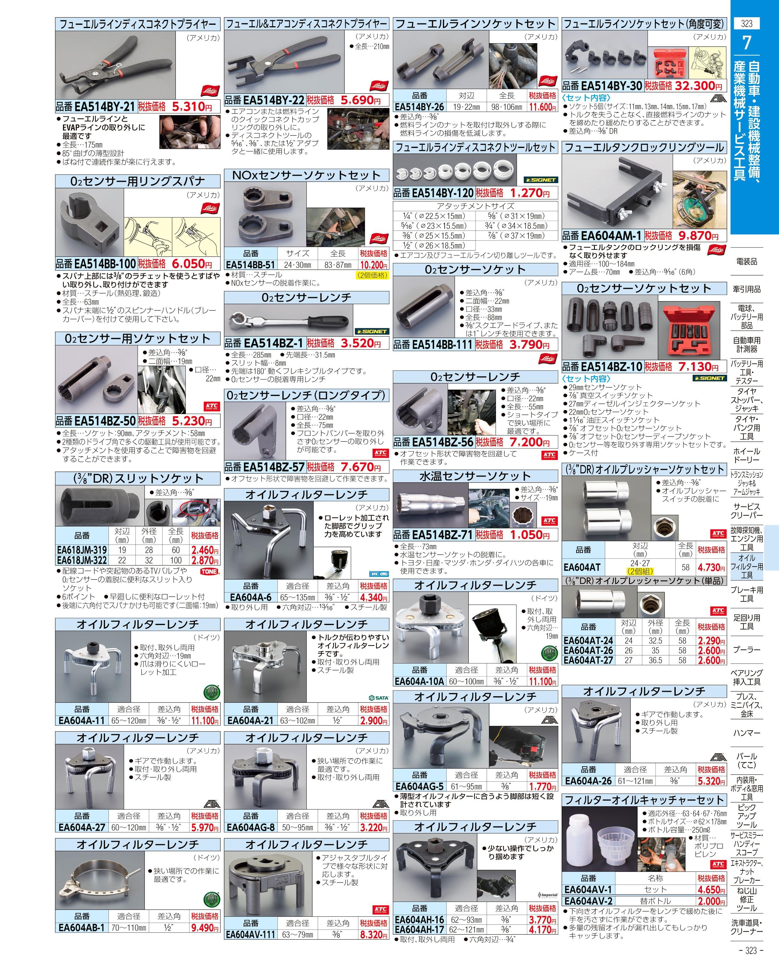 エスコ便利カタログ323ページ