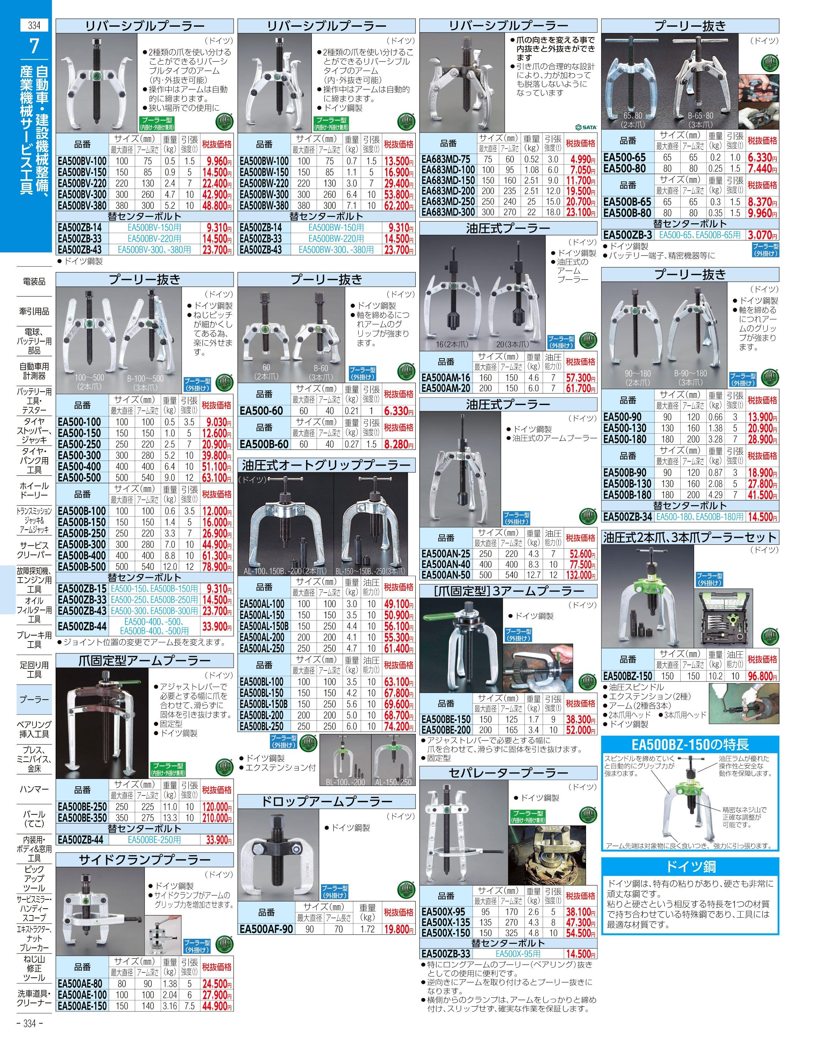 エスコ便利カタログ334ページ