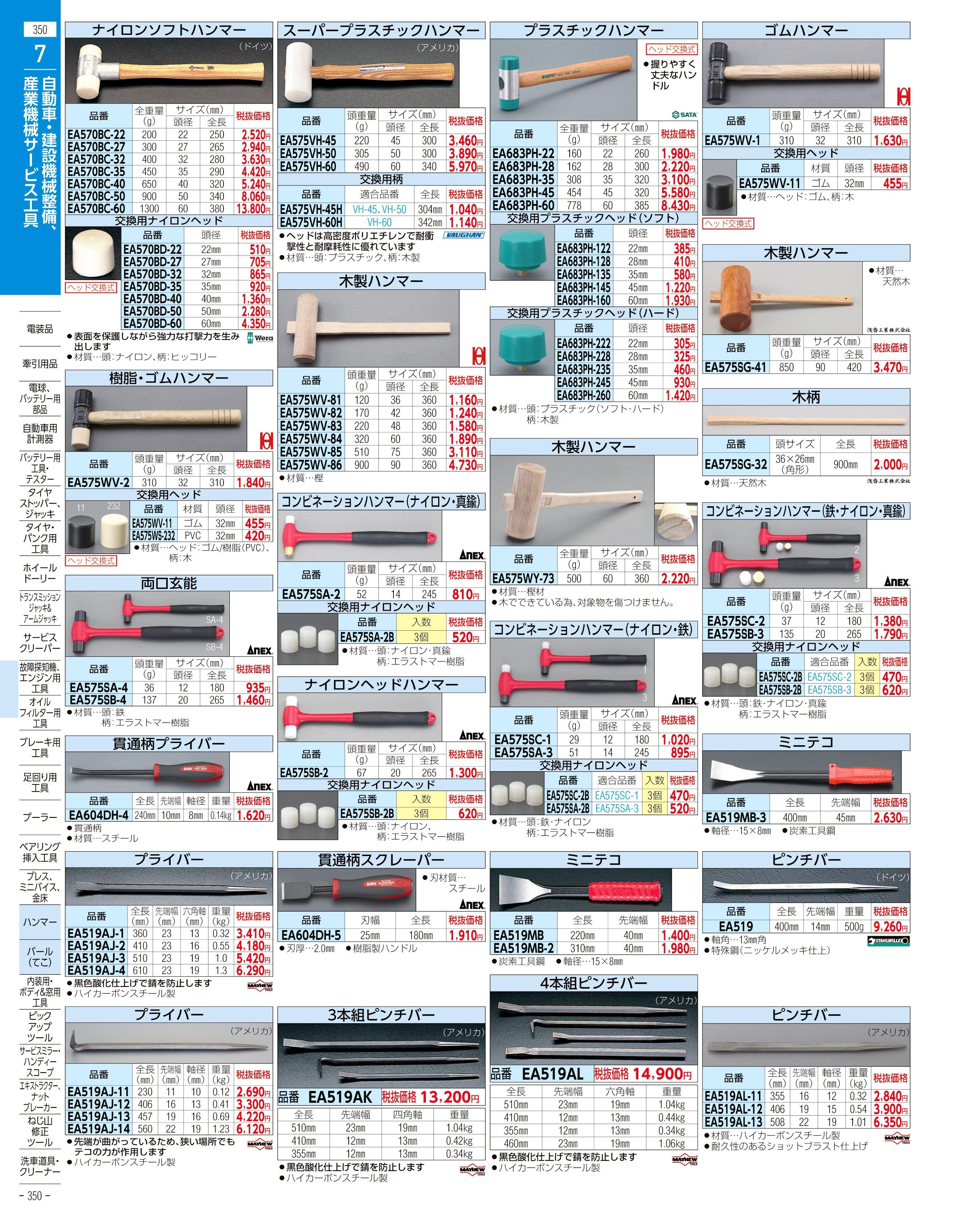 エスコ便利カタログ350ページ