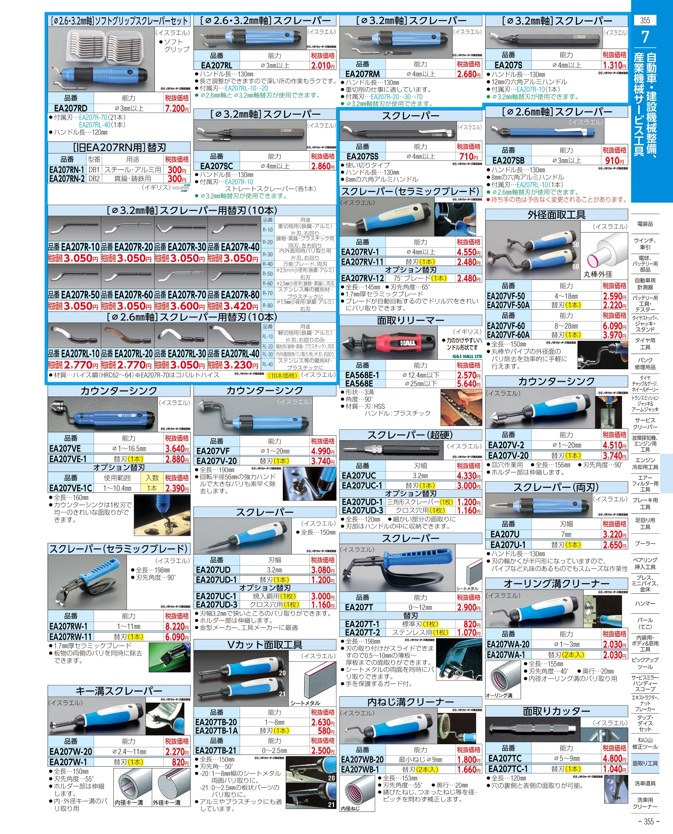 エスコ便利カタログ355ページ