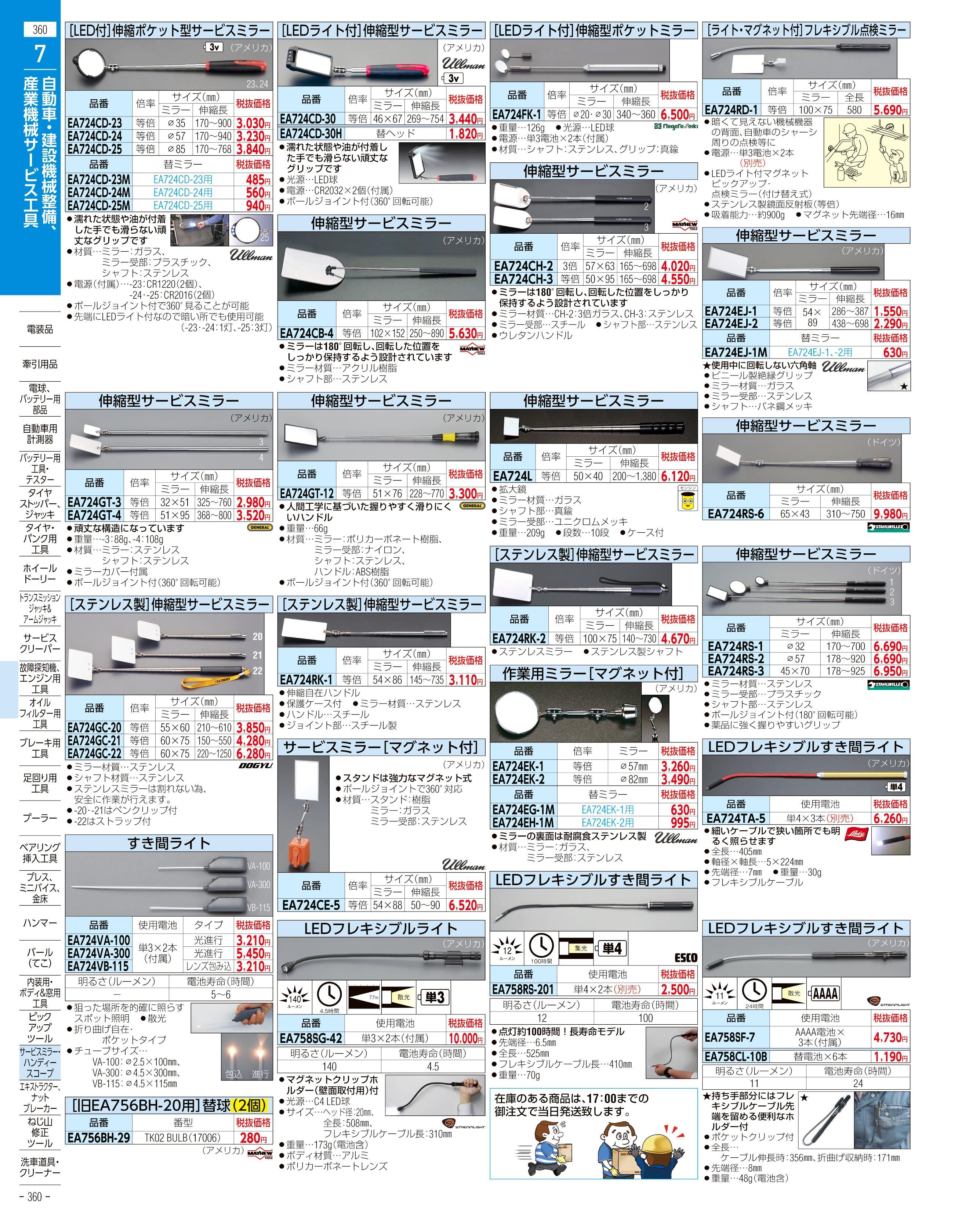 エスコ便利カタログ360ページ