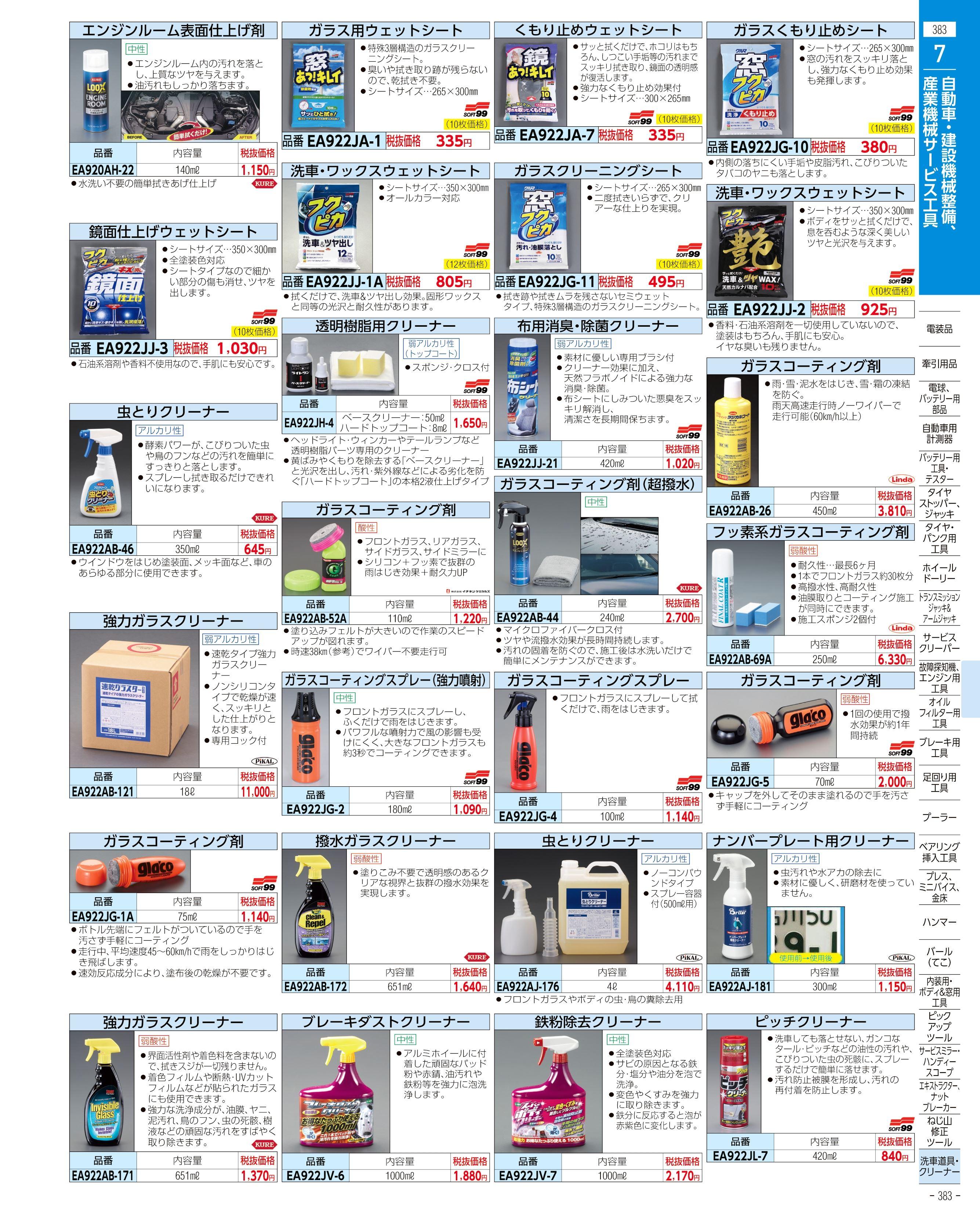 エスコ便利カタログ383ページ