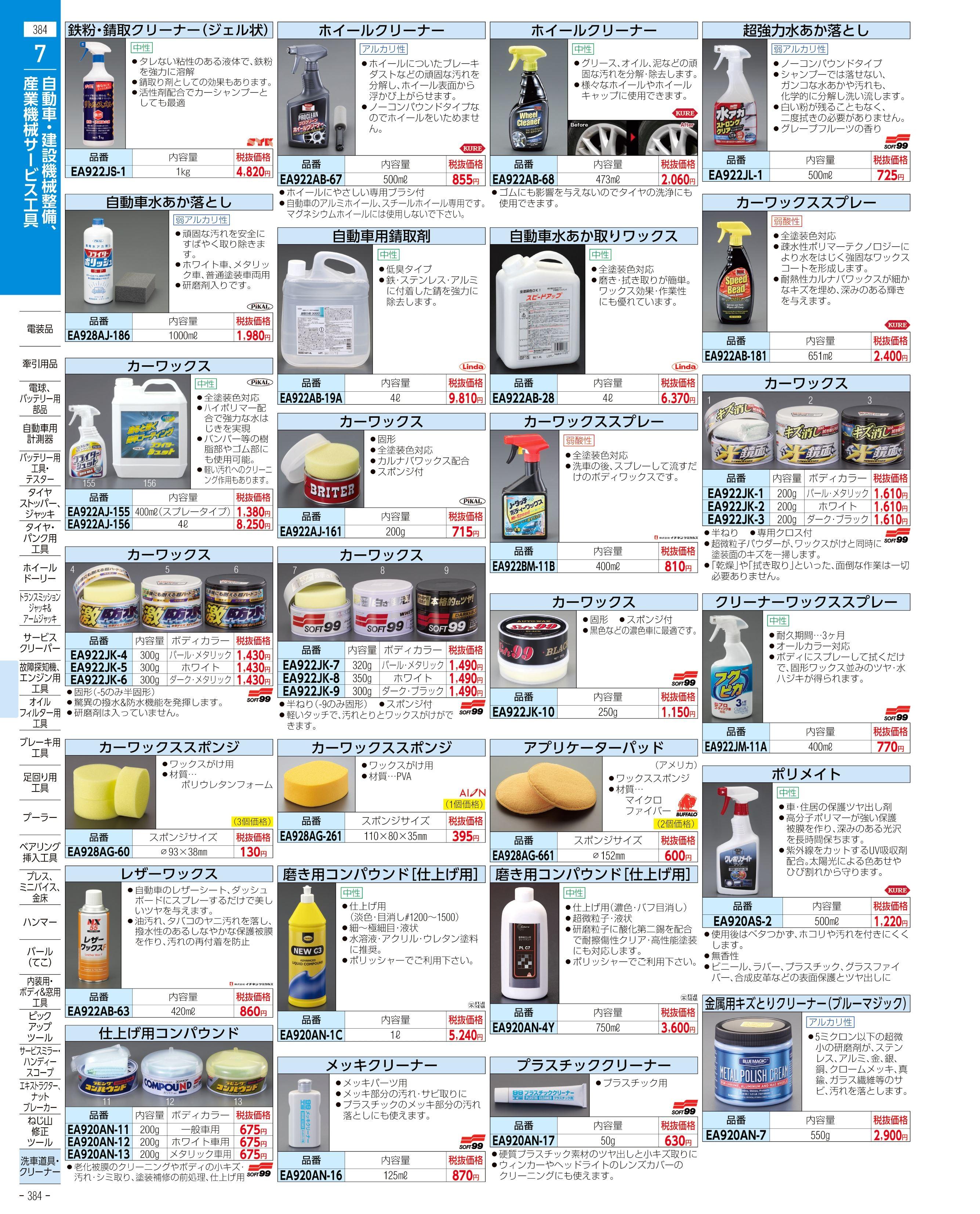 エスコ便利カタログ384ページ