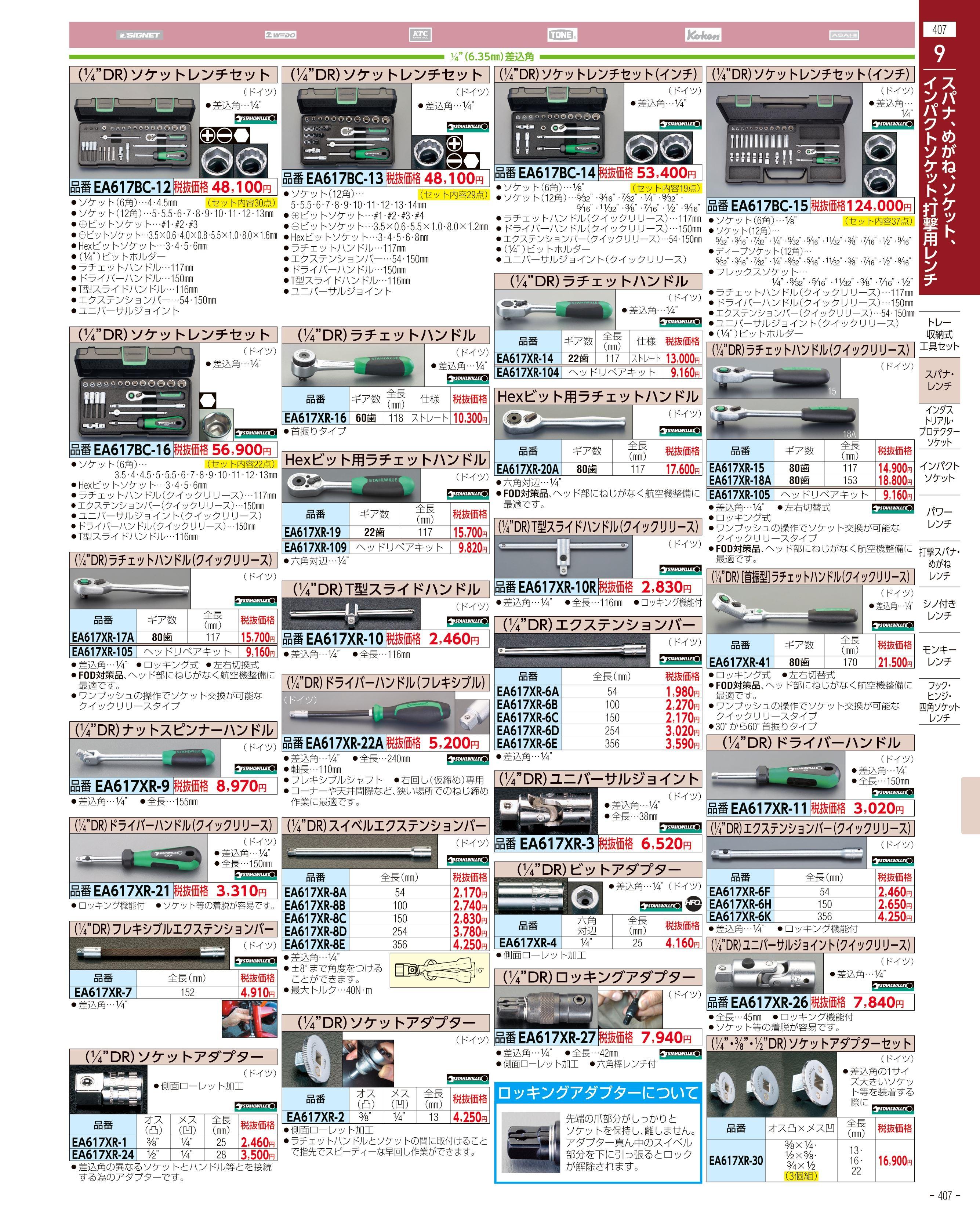 エスコ便利カタログ407ページ