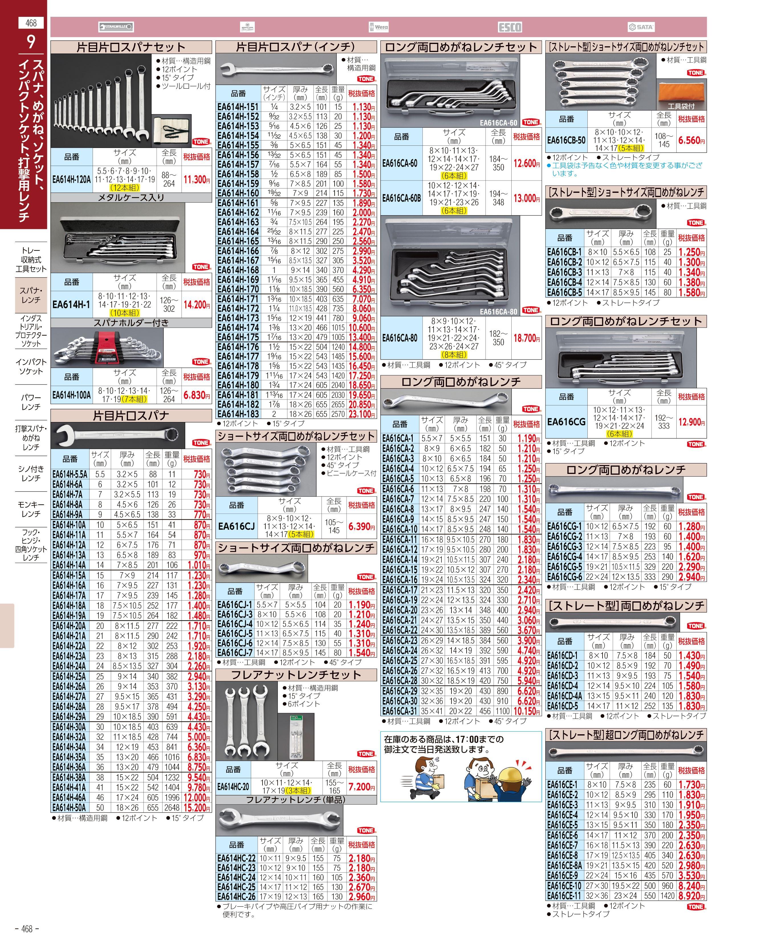エスコ便利カタログ468ページ