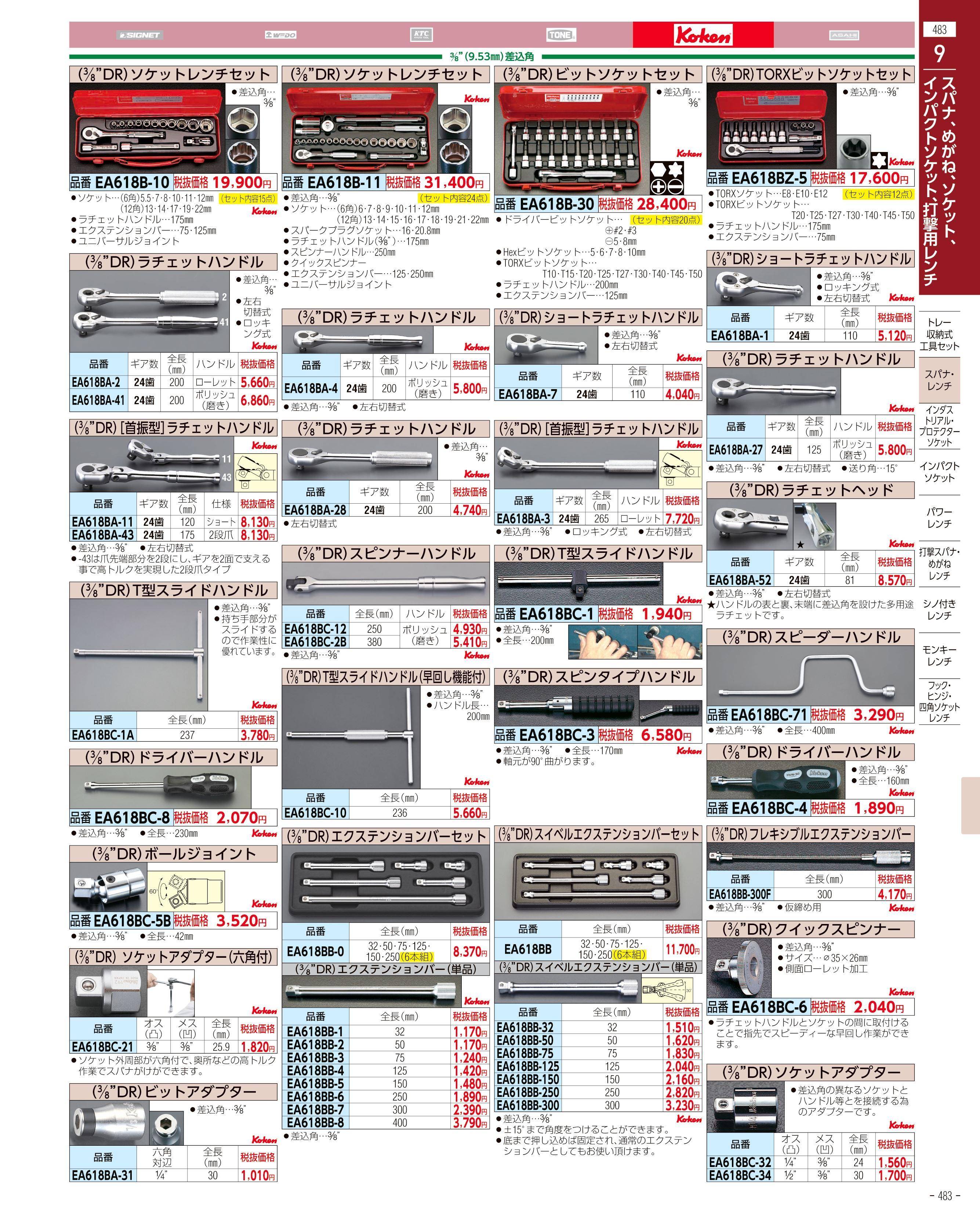 エスコ便利カタログ483ページ