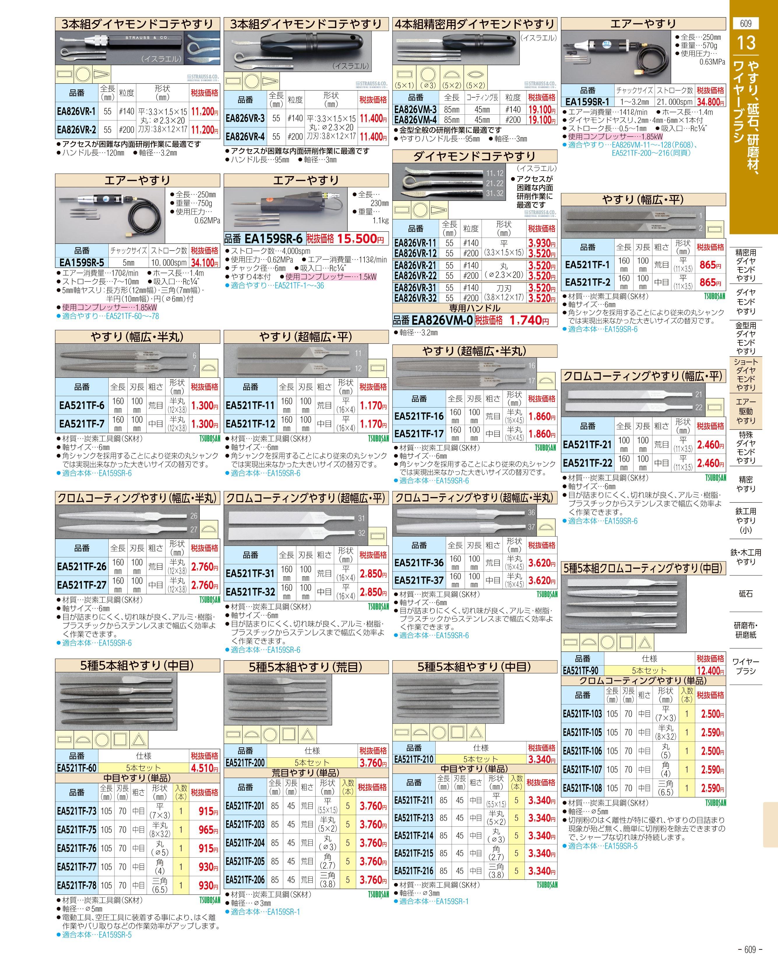 エスコ便利カタログ609ページ
