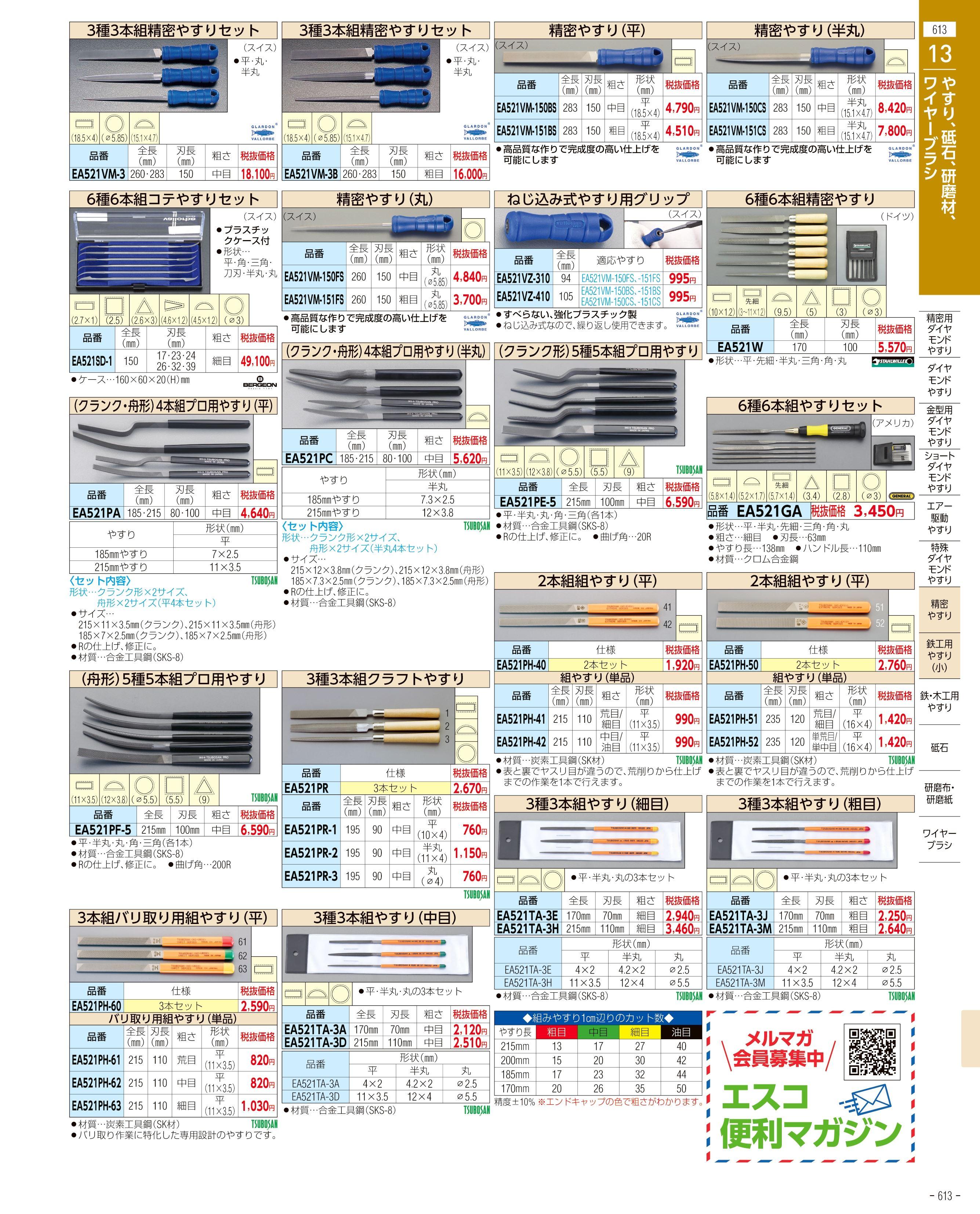 エスコ便利カタログ613ページ