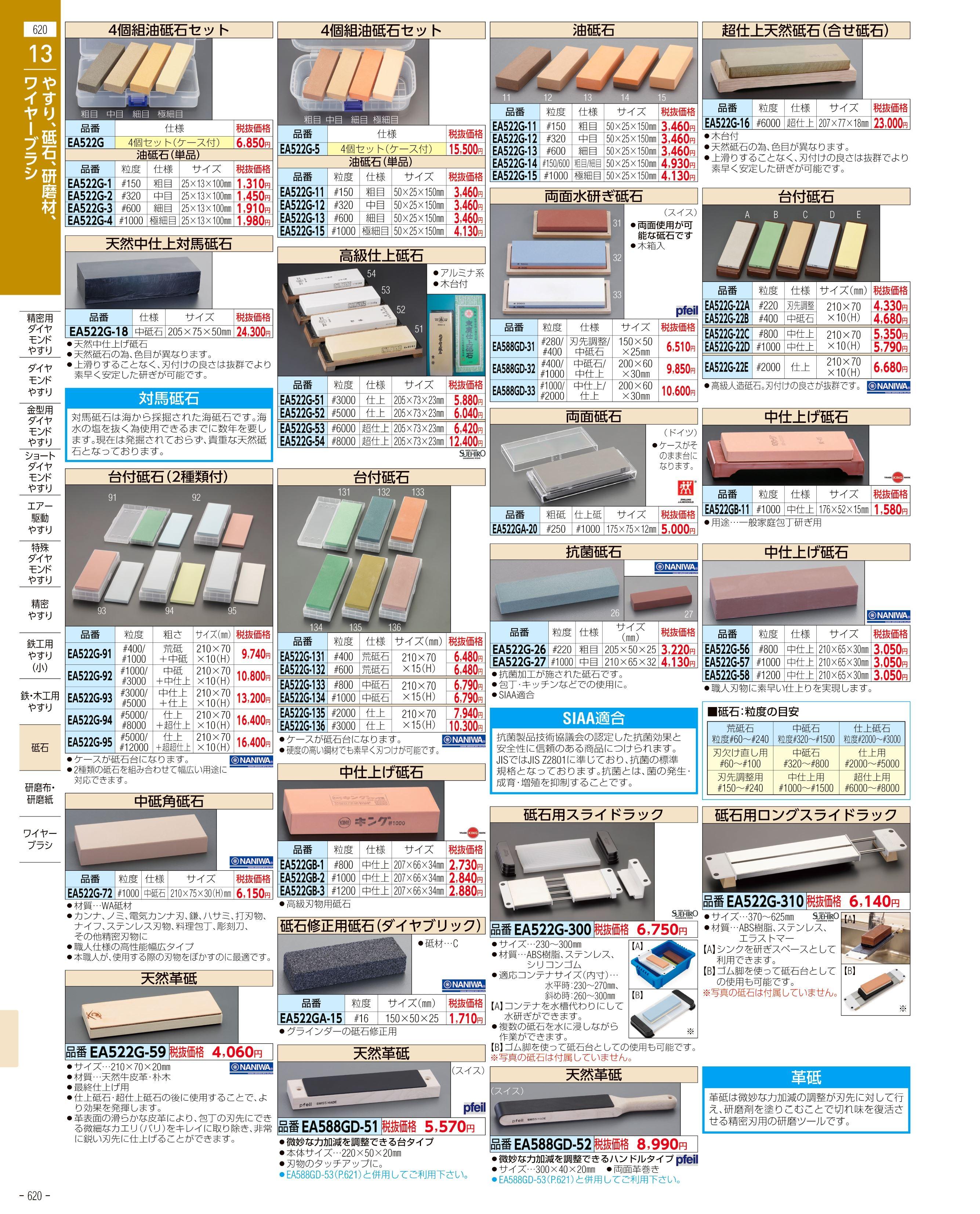 エスコ便利カタログ620ページ