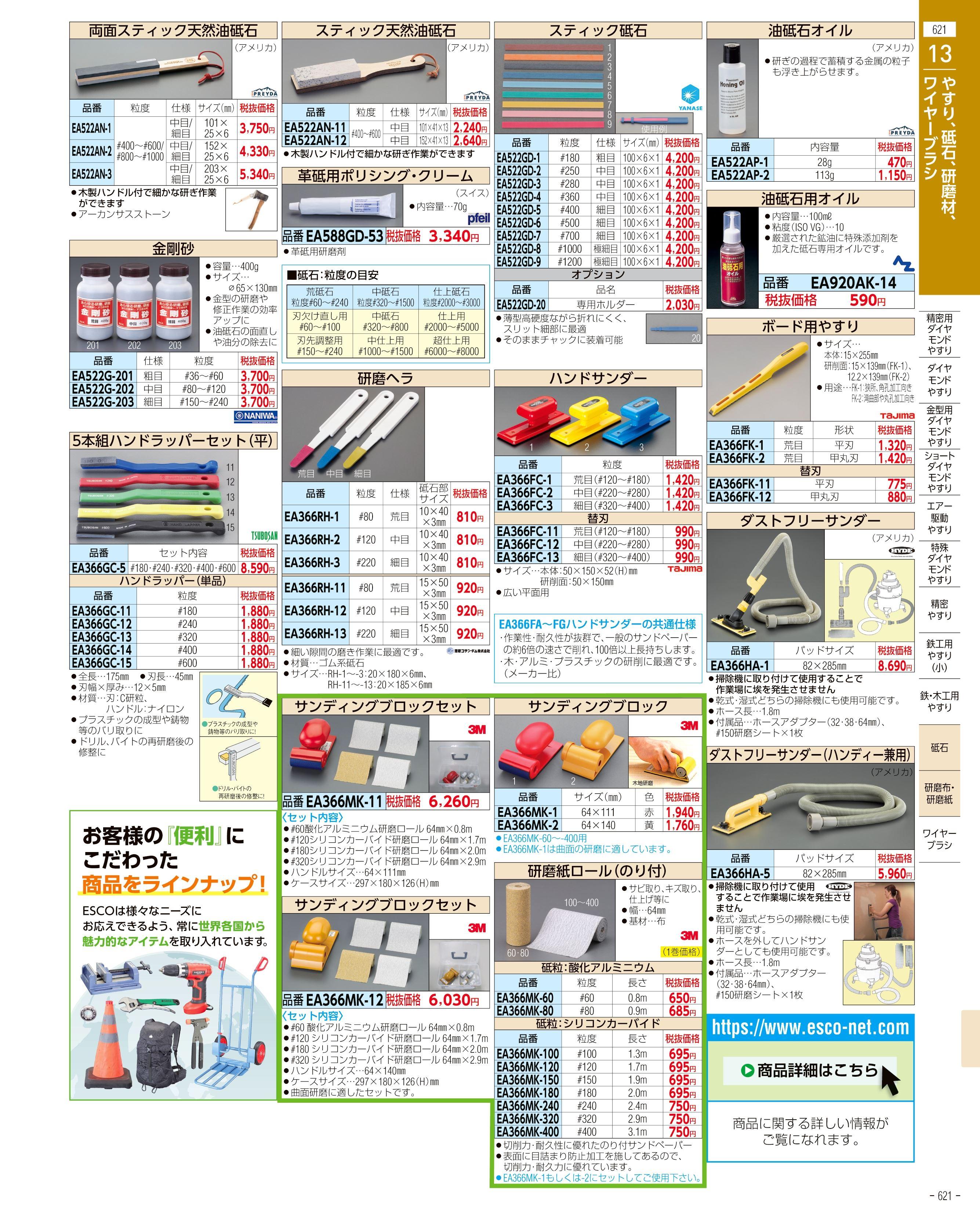 エスコ便利カタログ621ページ