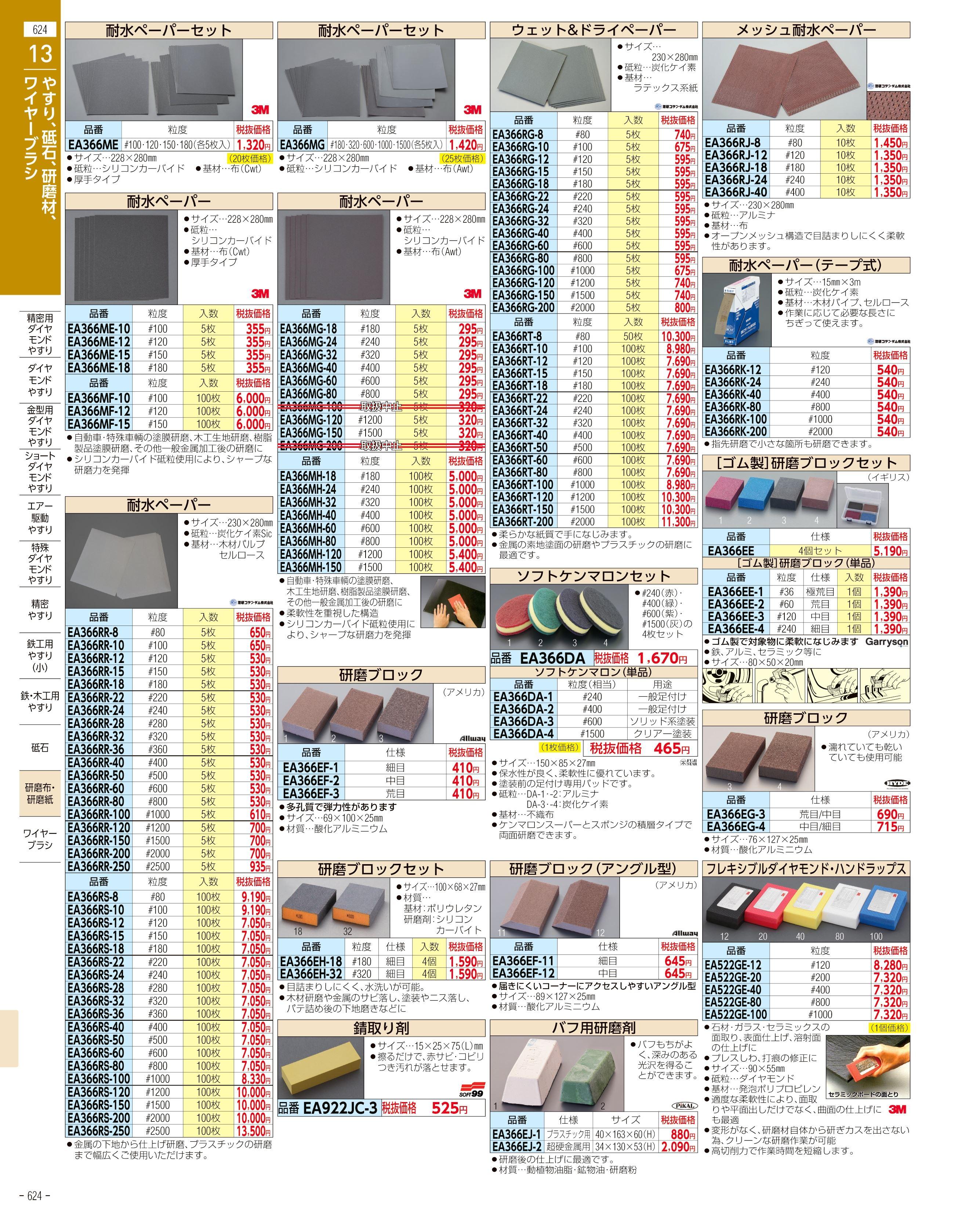 エスコ便利カタログ624ページ