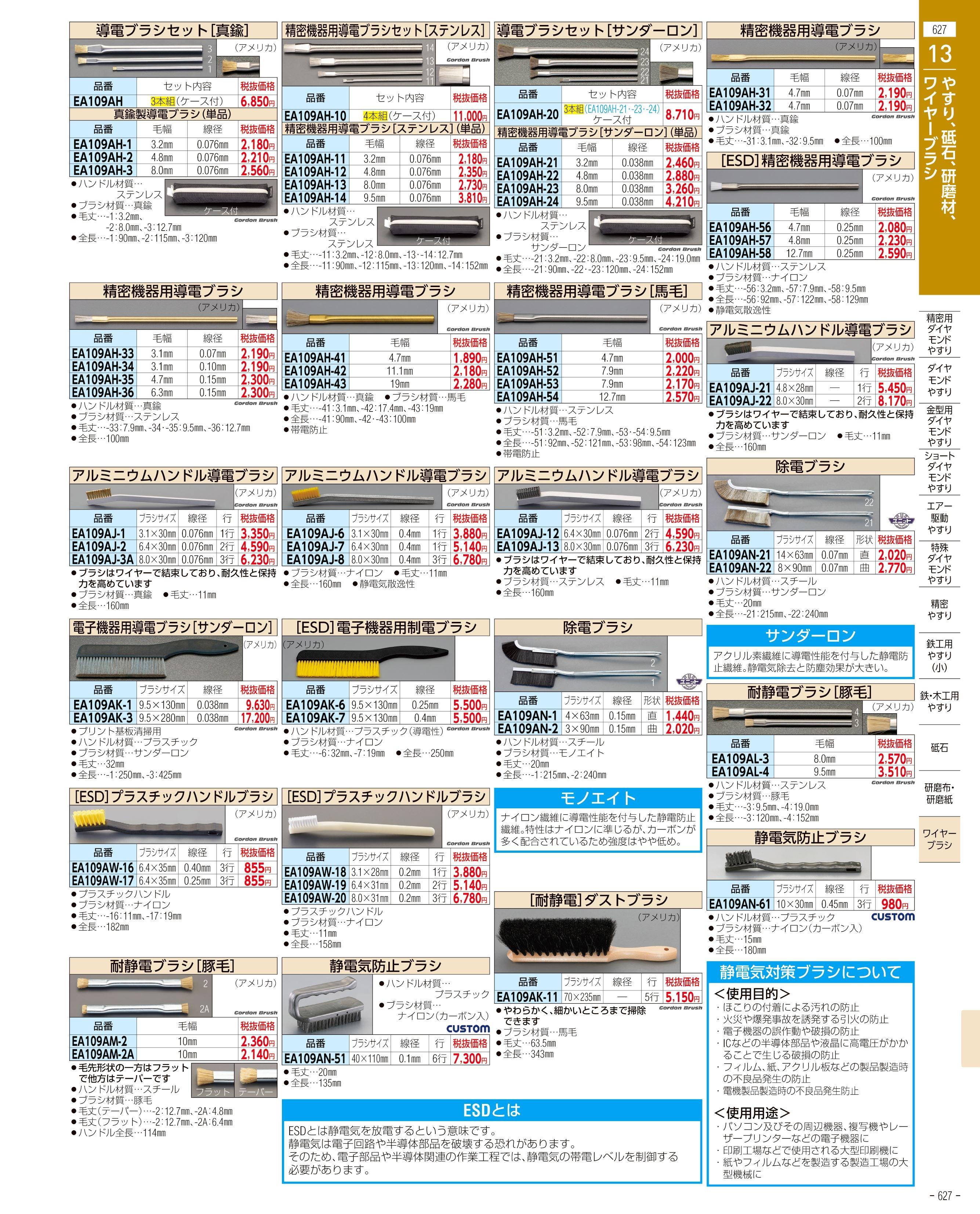 エスコ便利カタログ627ページ