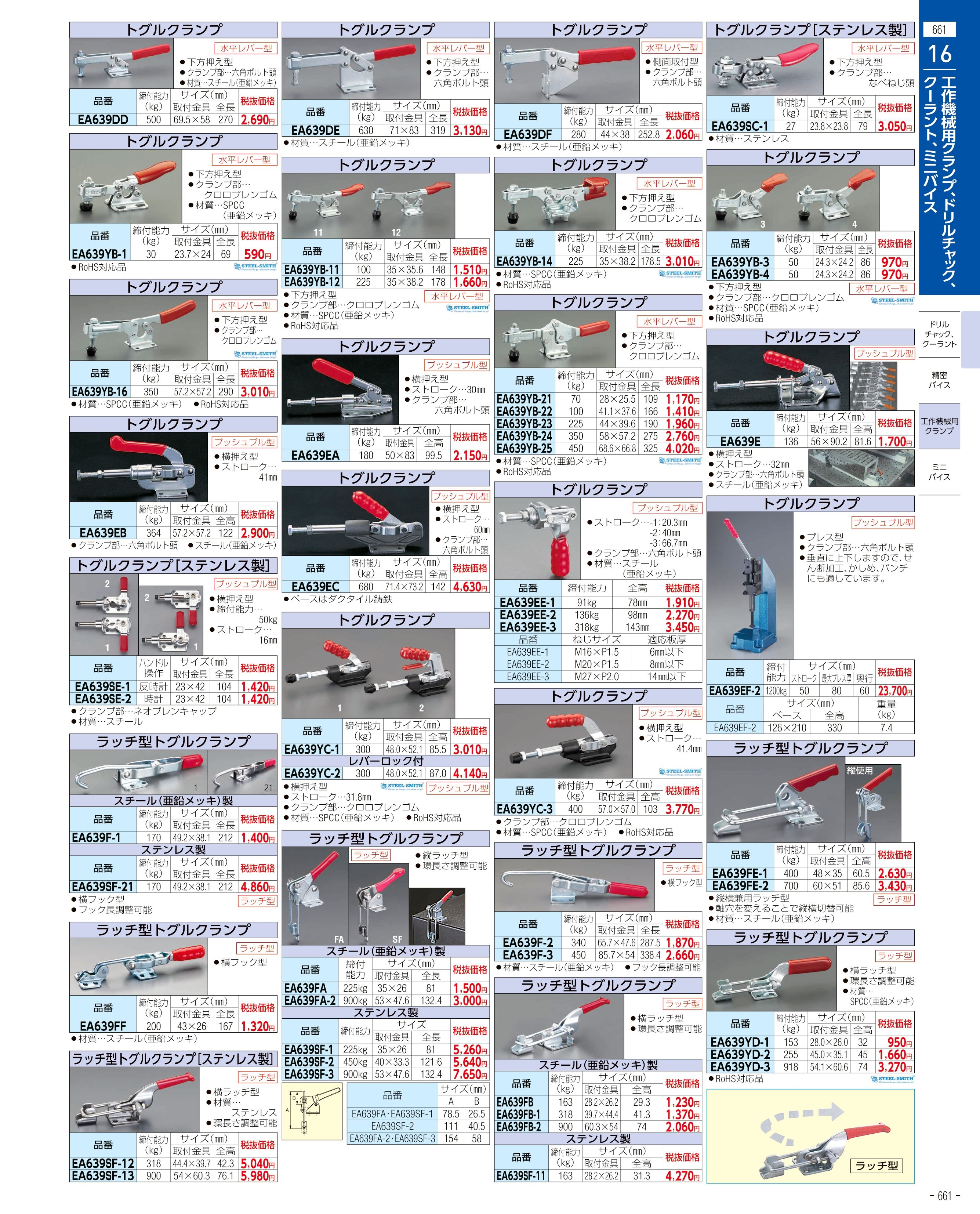 エスコ便利カタログ661ページ