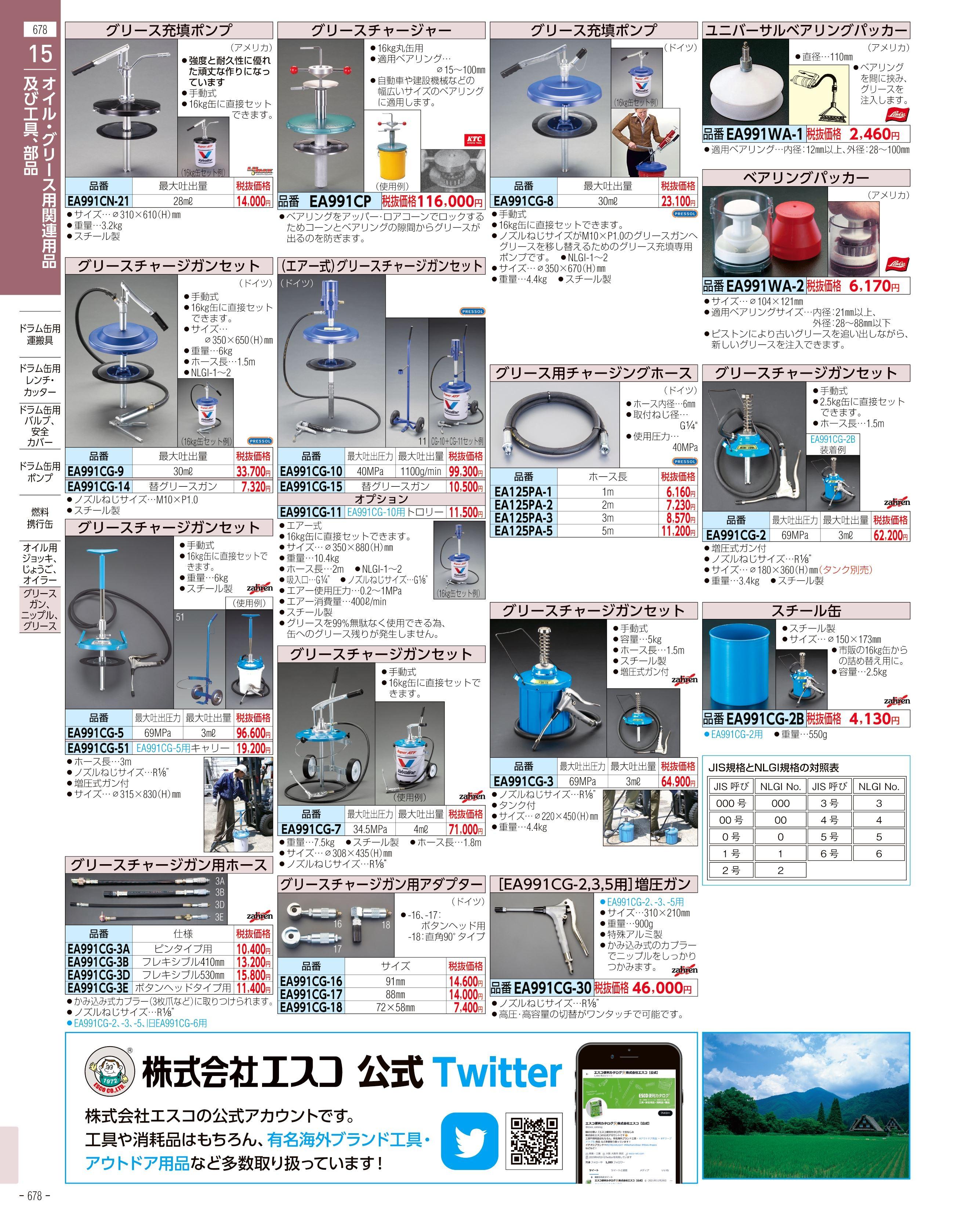 エスコ便利カタログ678ページ