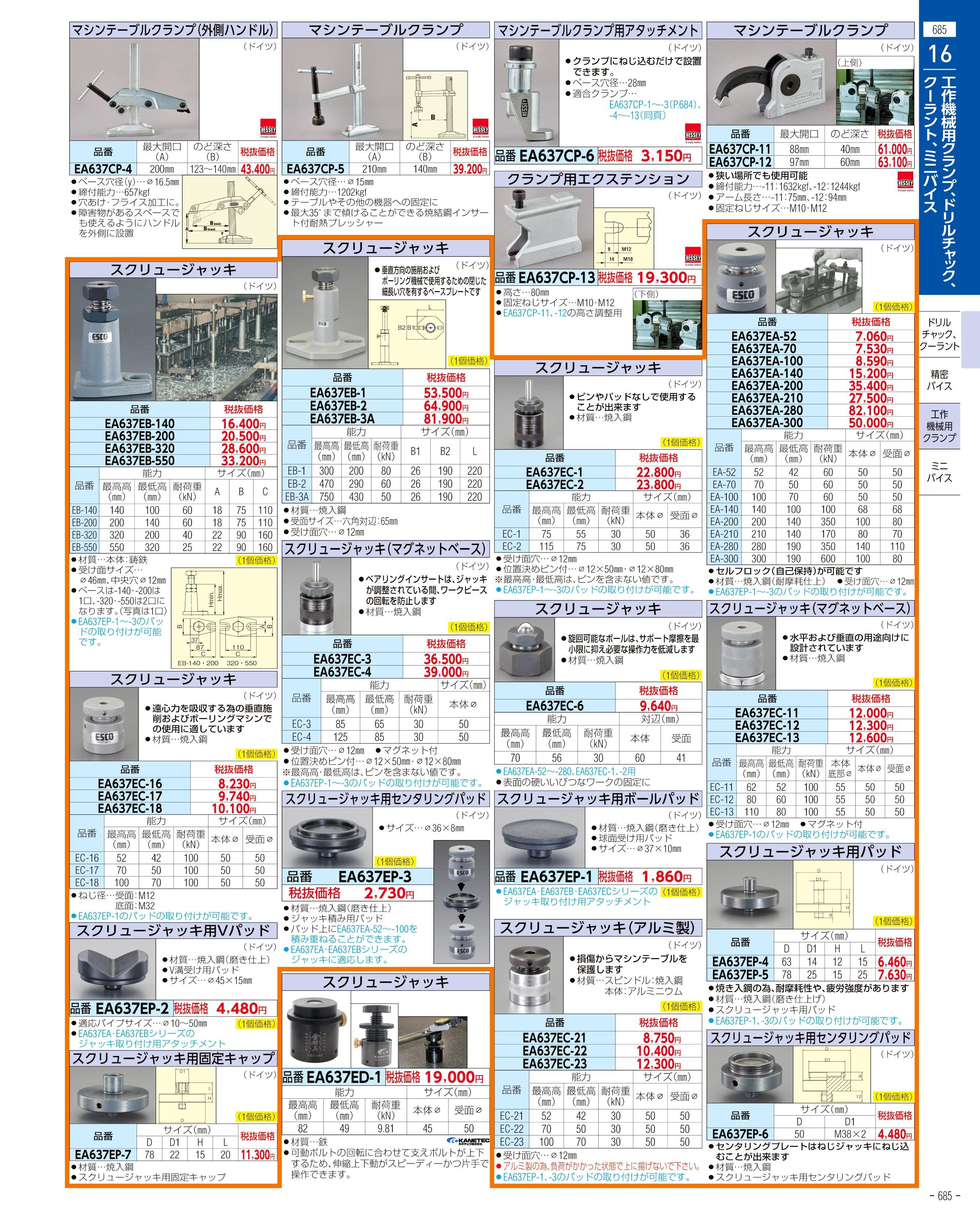エスコ便利カタログ685ページ