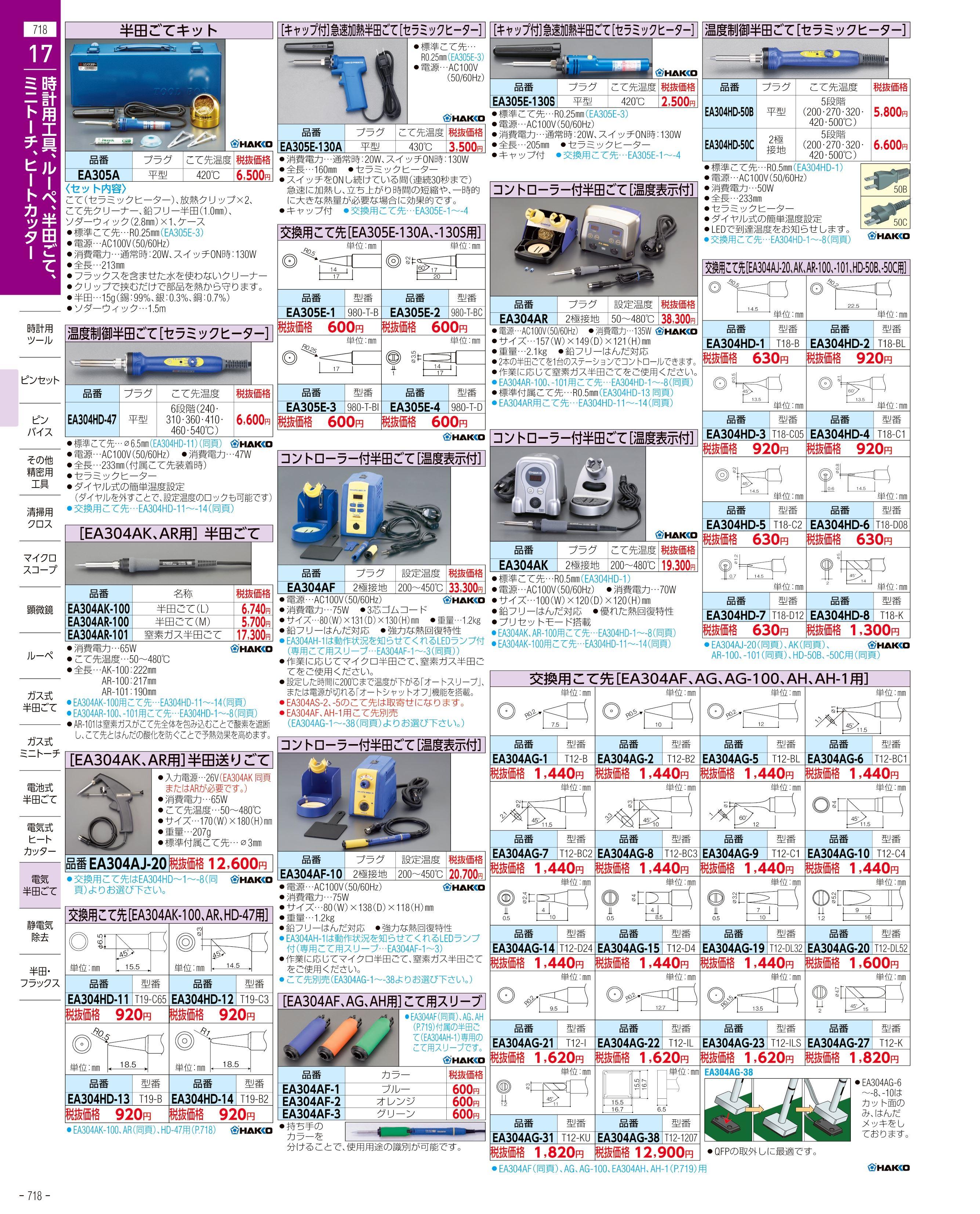 エスコ便利カタログ718ページ
