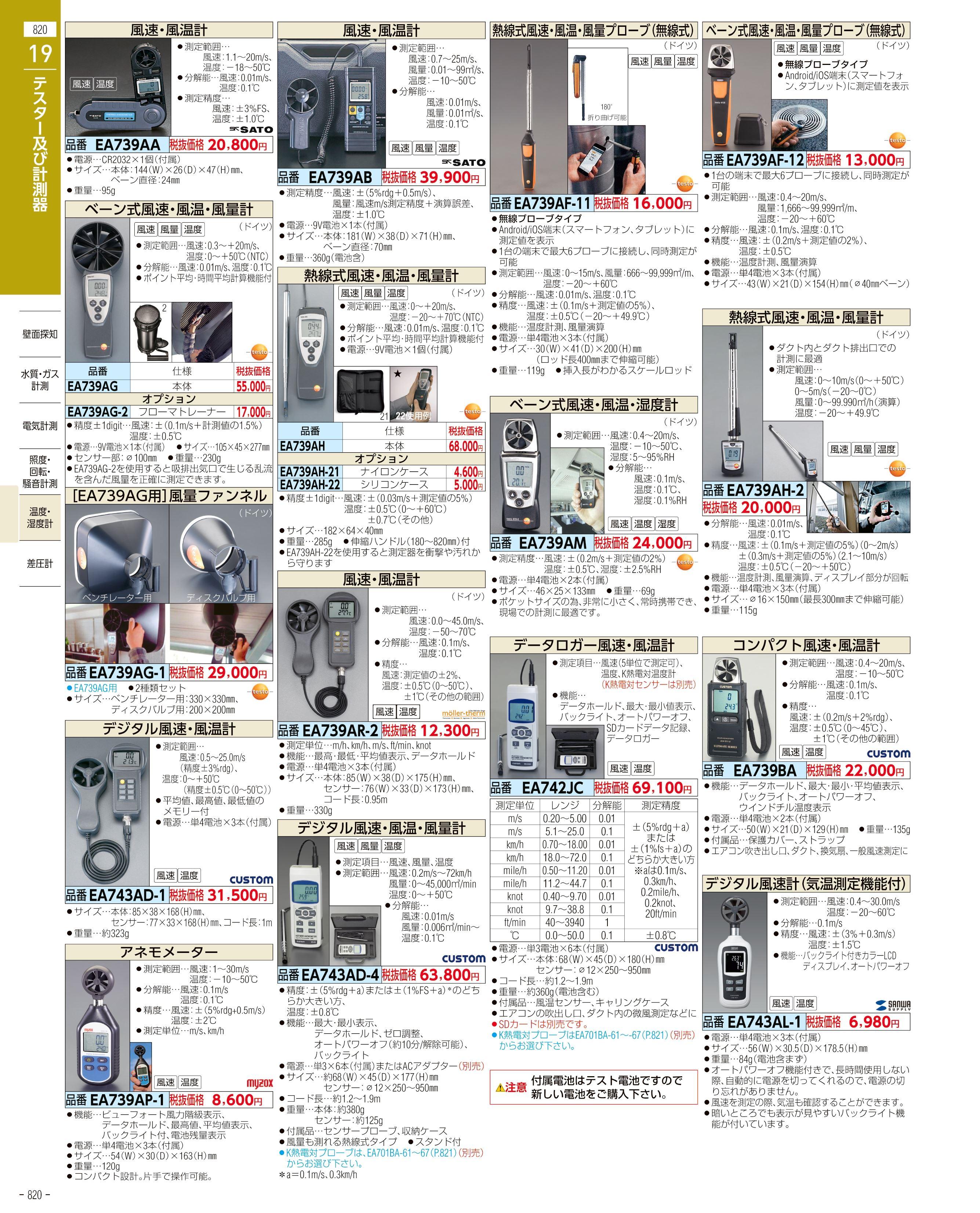 エスコ便利カタログ820ページ