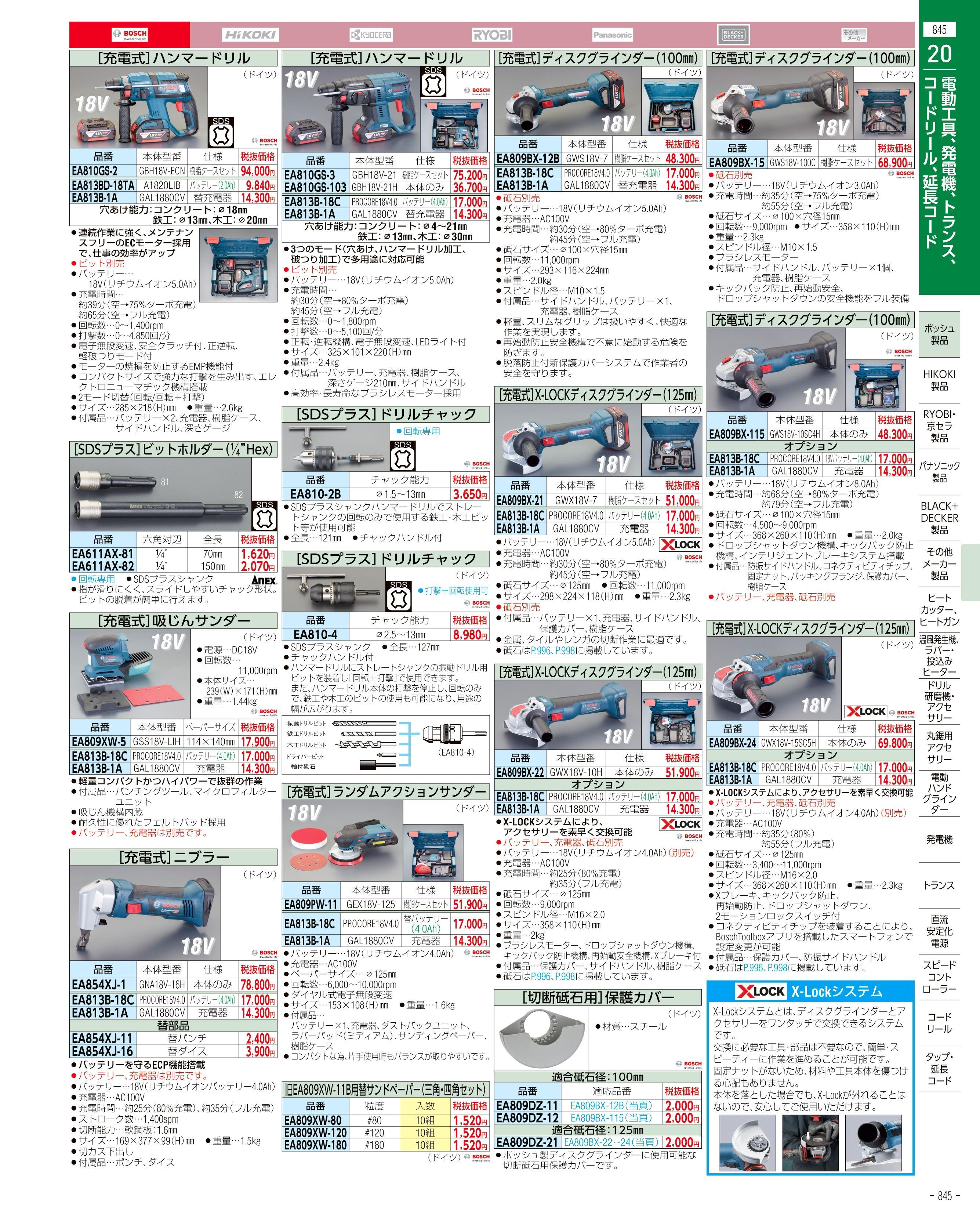 エスコ便利カタログ845ページ