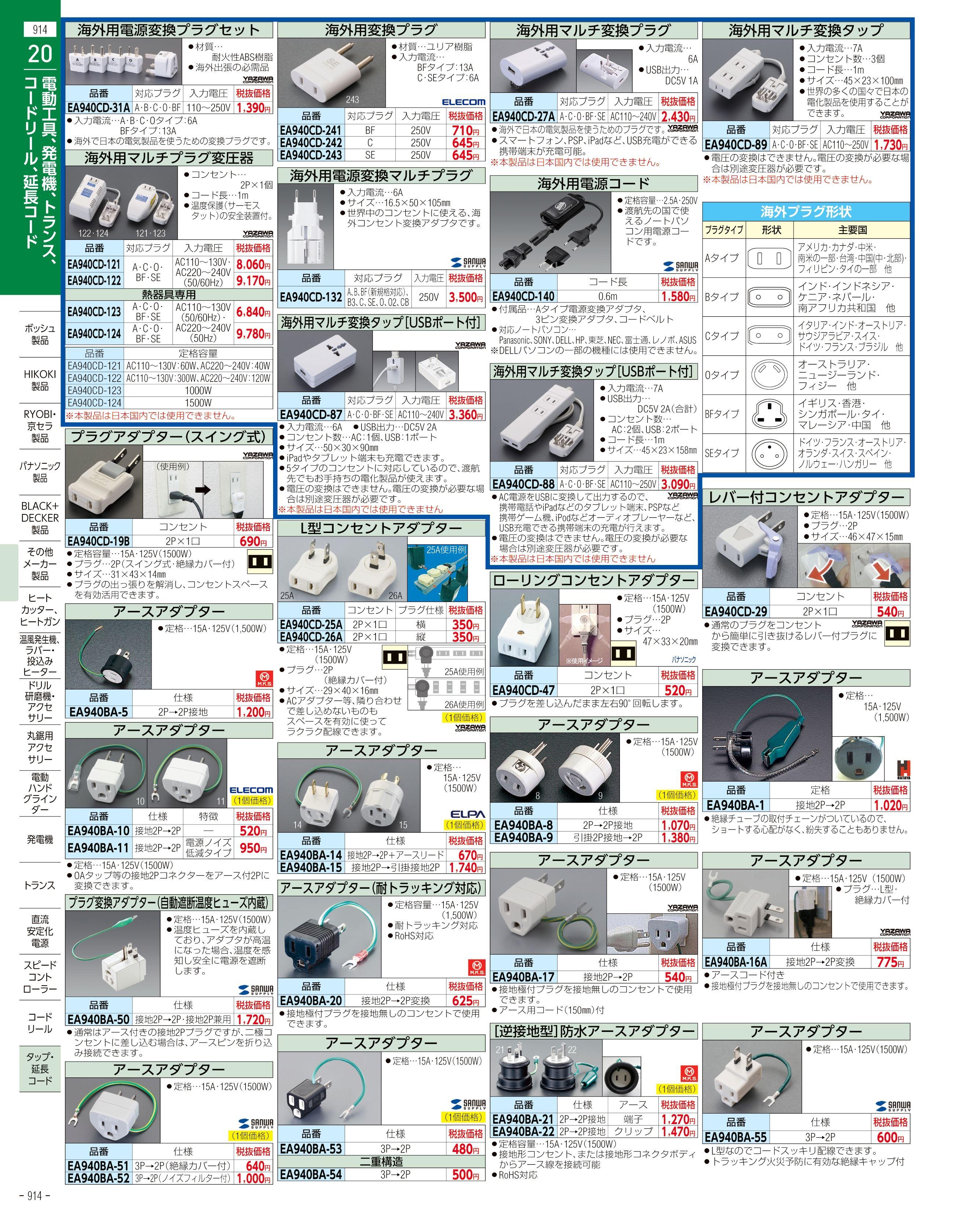 エスコ便利カタログ914ページ