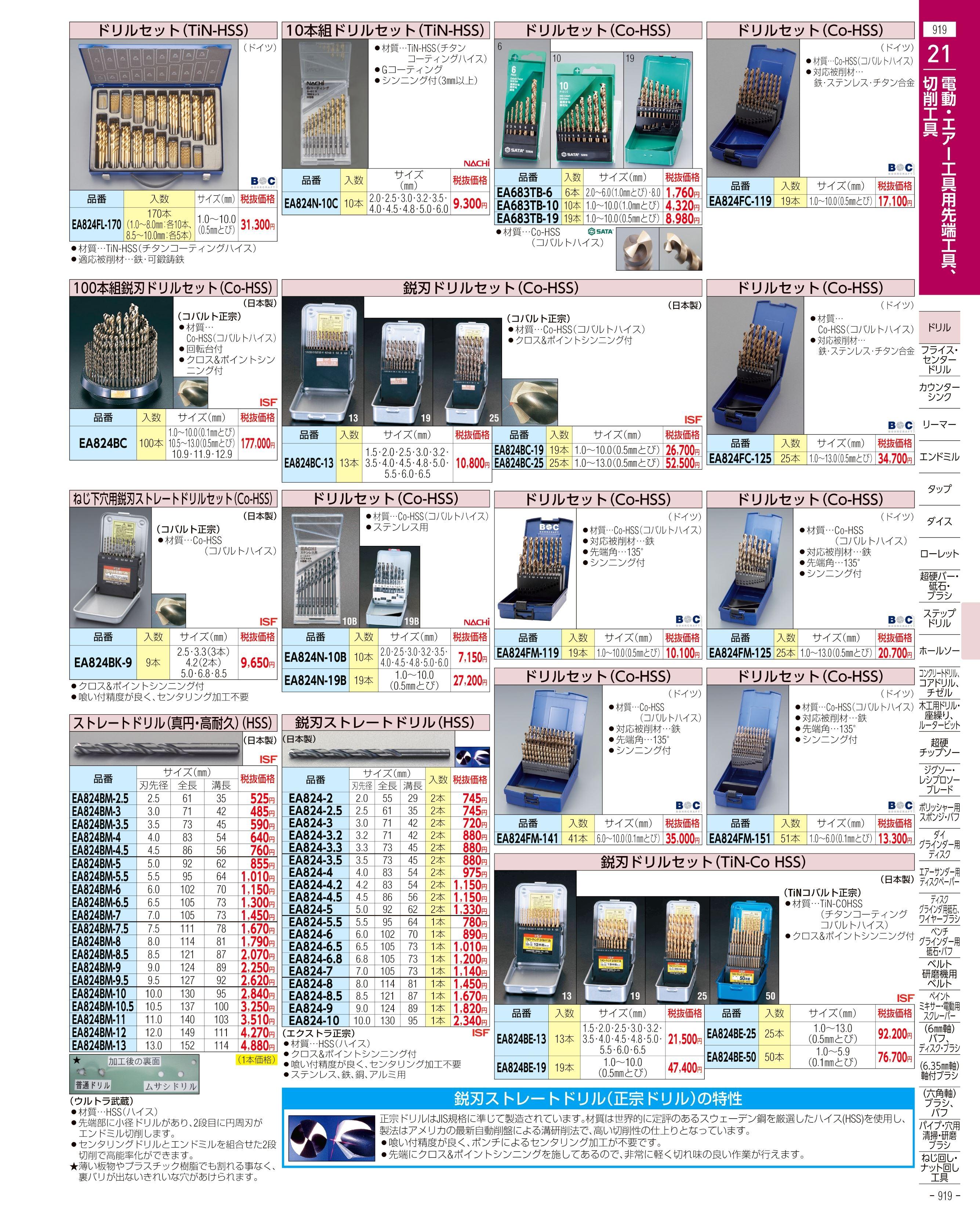 エスコ便利カタログ919ページ