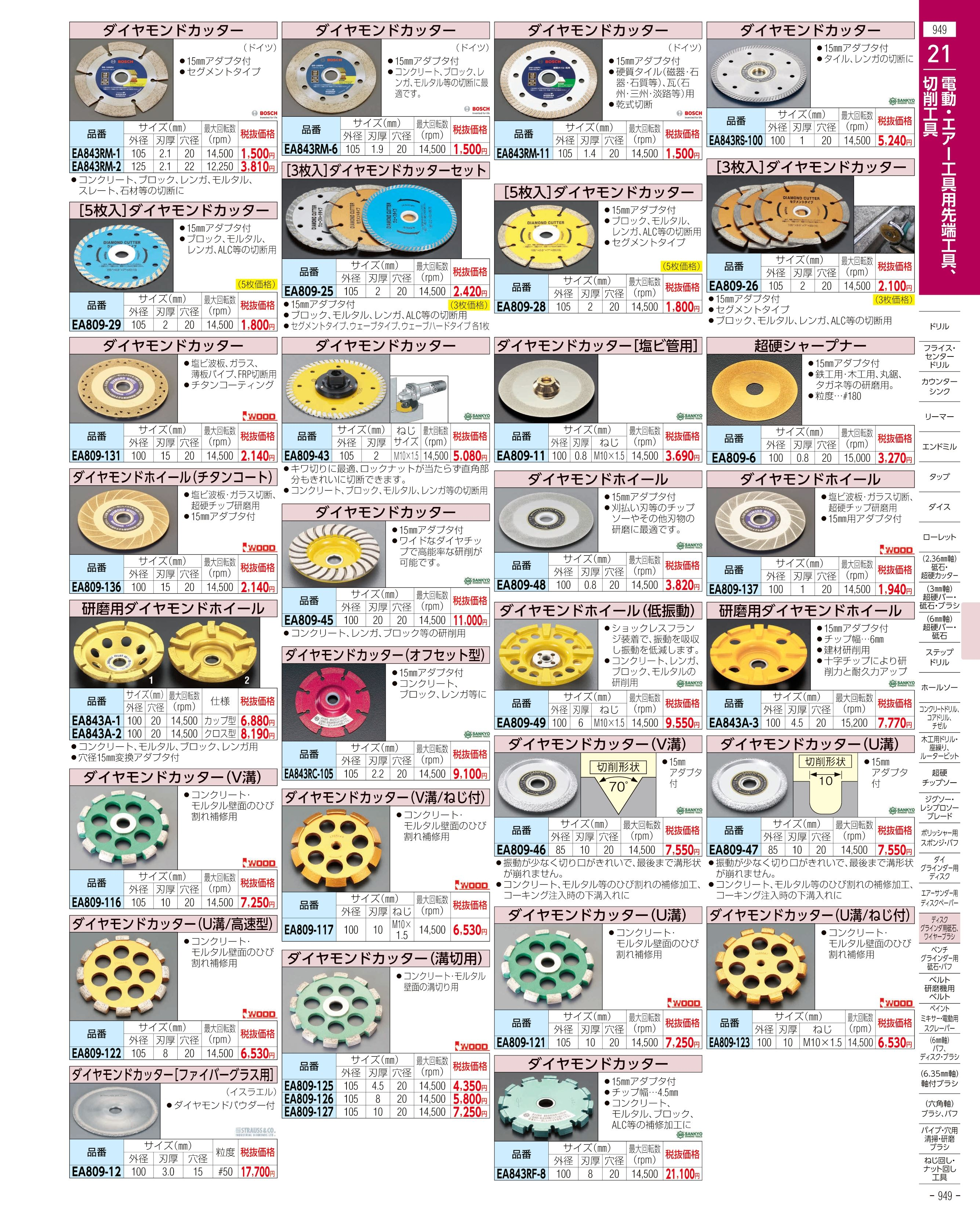 エスコ便利カタログ949ページ