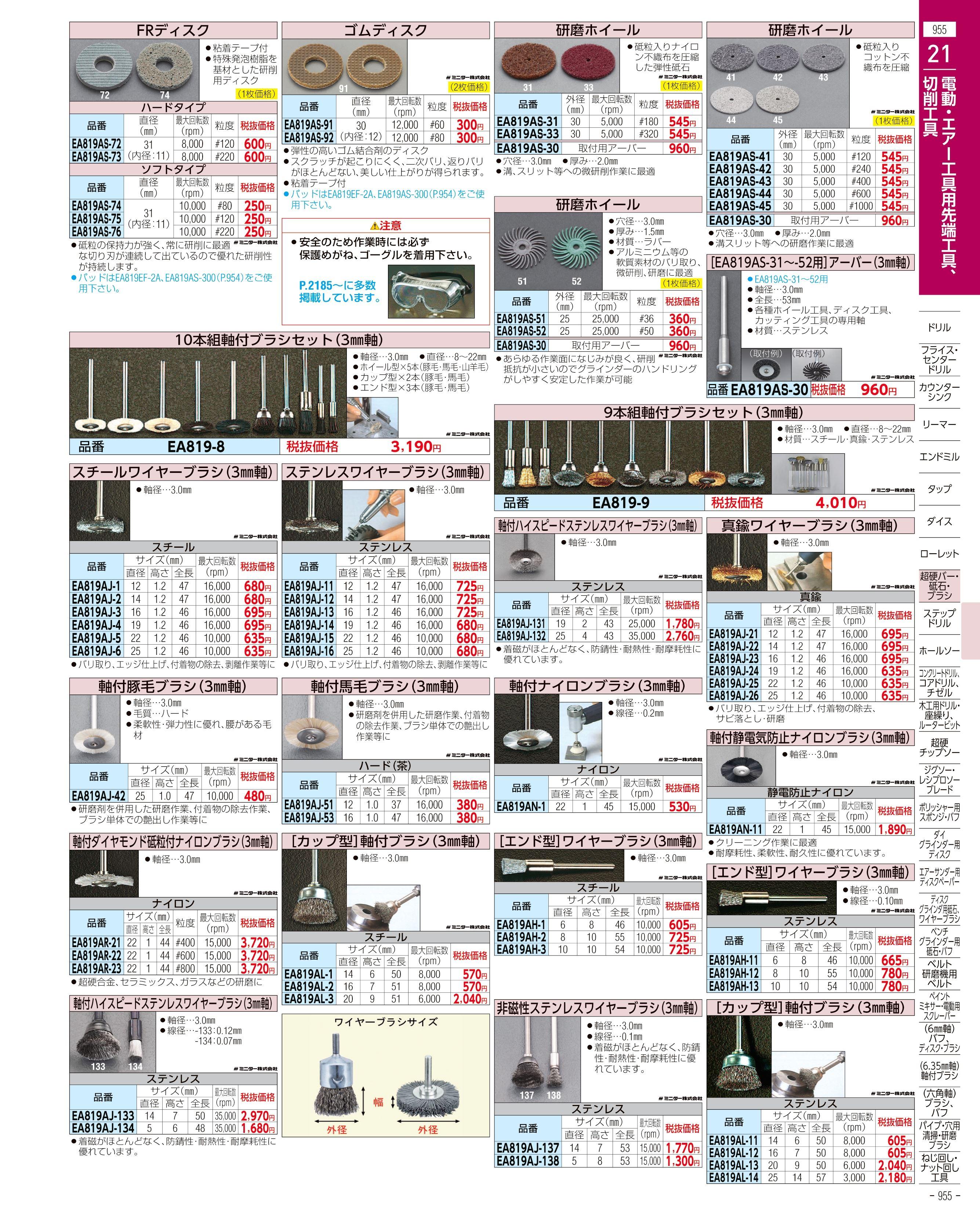 エスコ便利カタログ955ページ