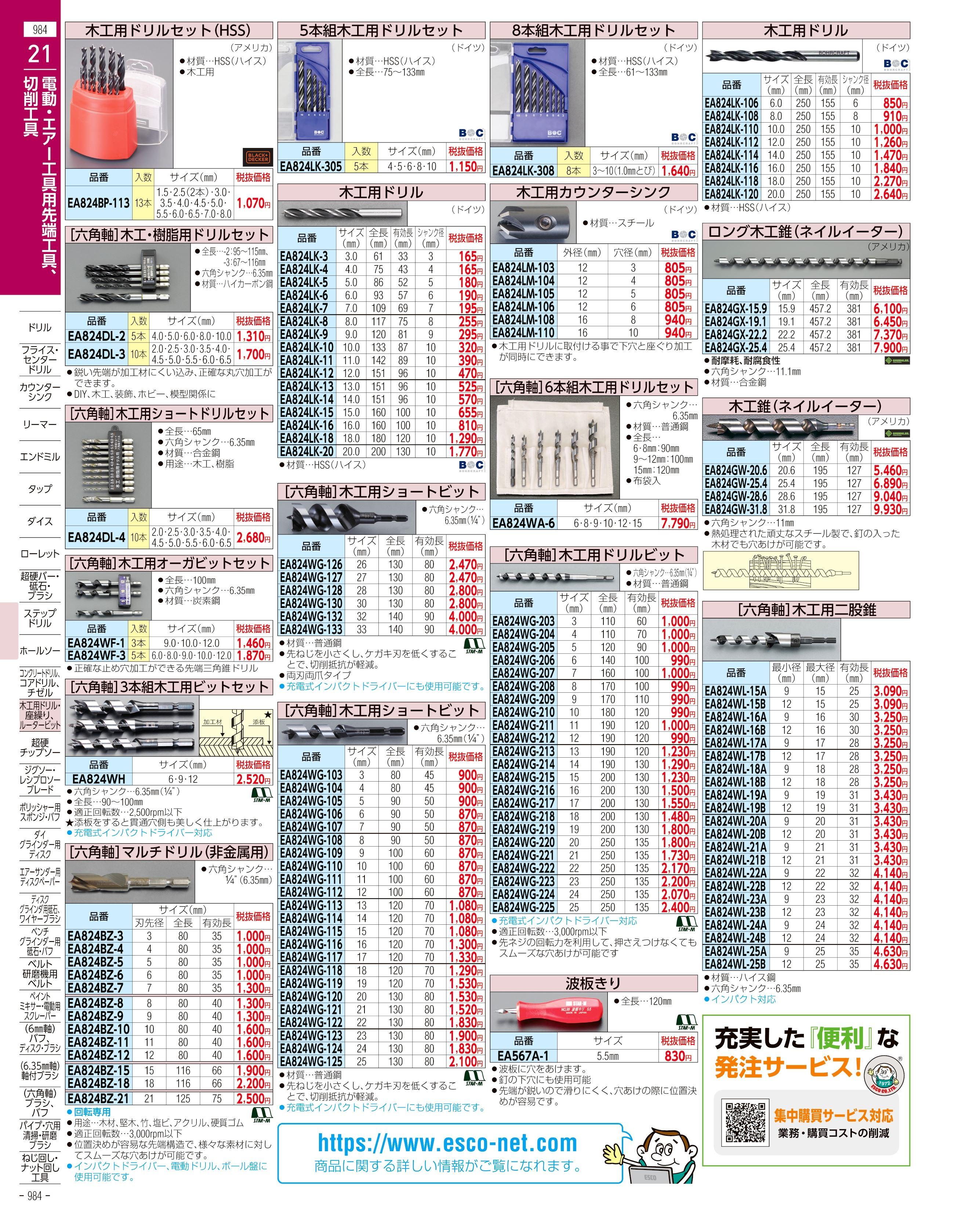 エスコ便利カタログ984ページ