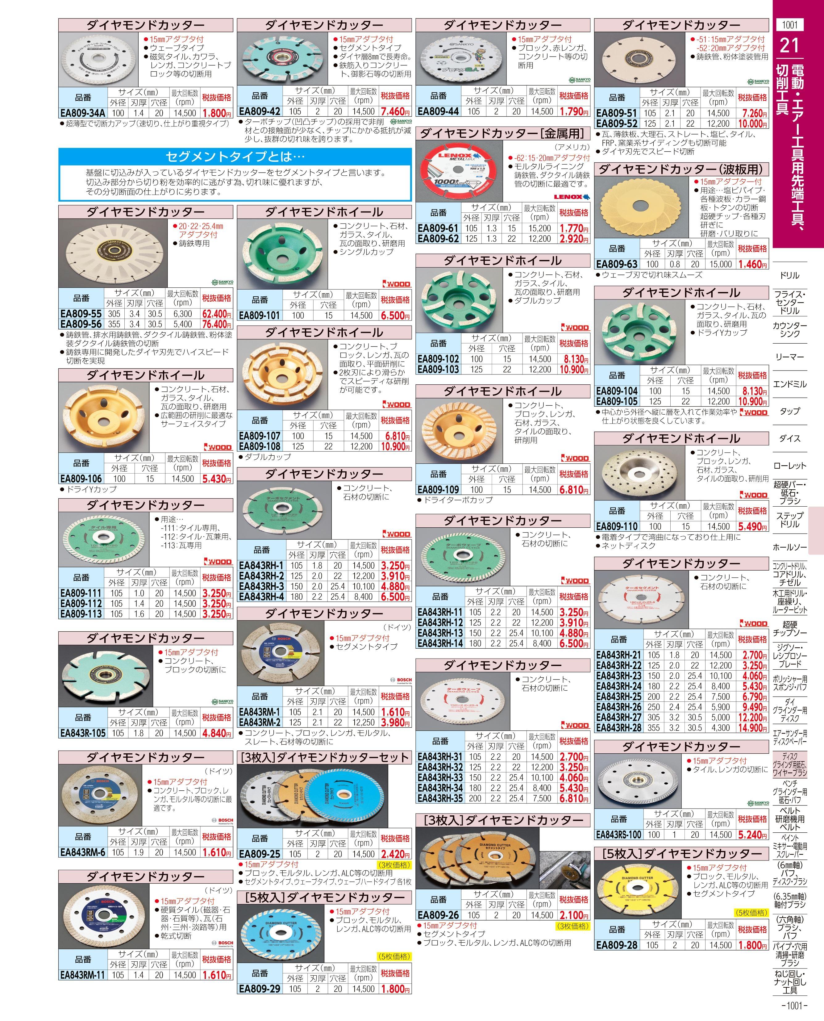 エスコ便利カタログ1001ページ