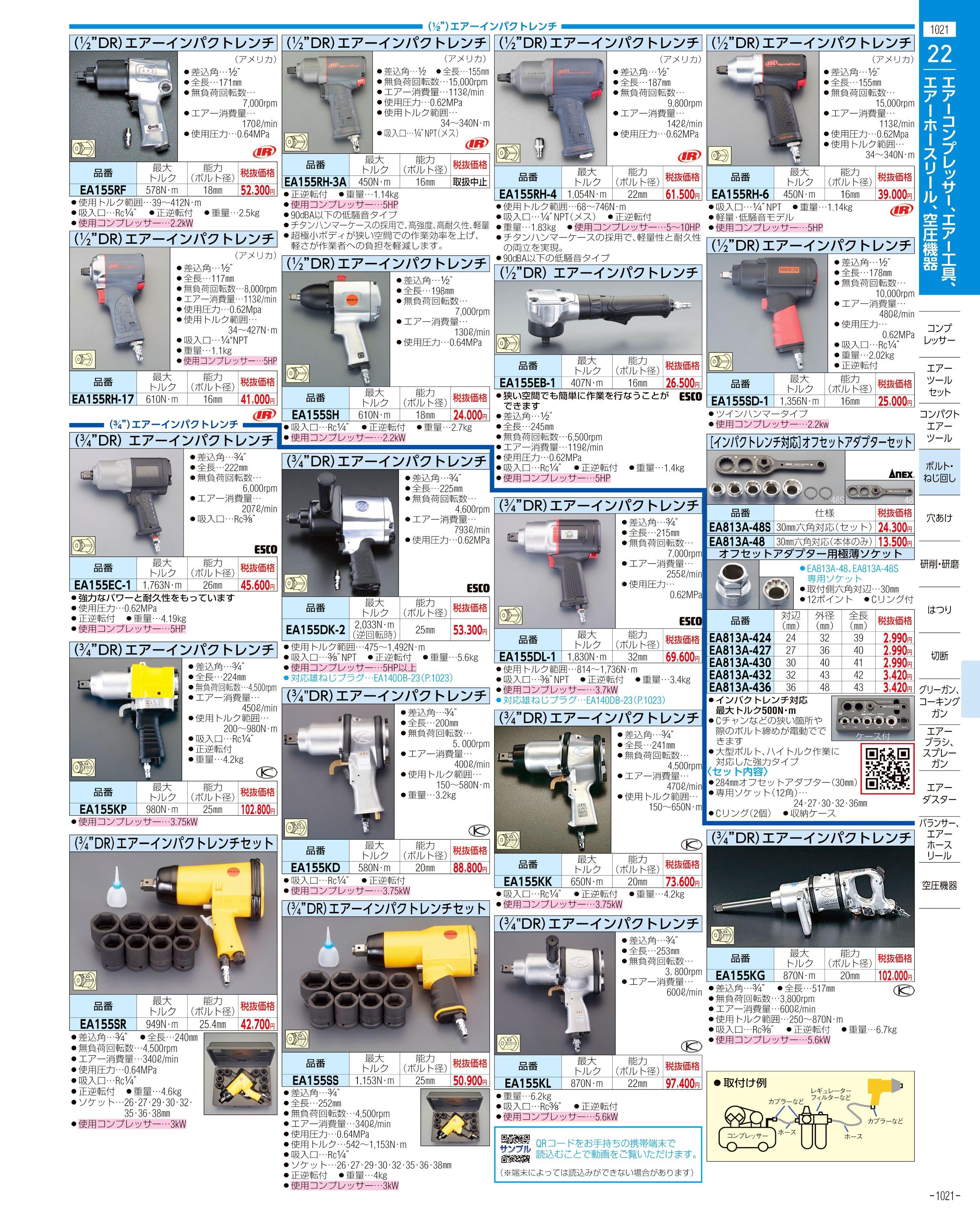 エスコ便利カタログ1021ページ