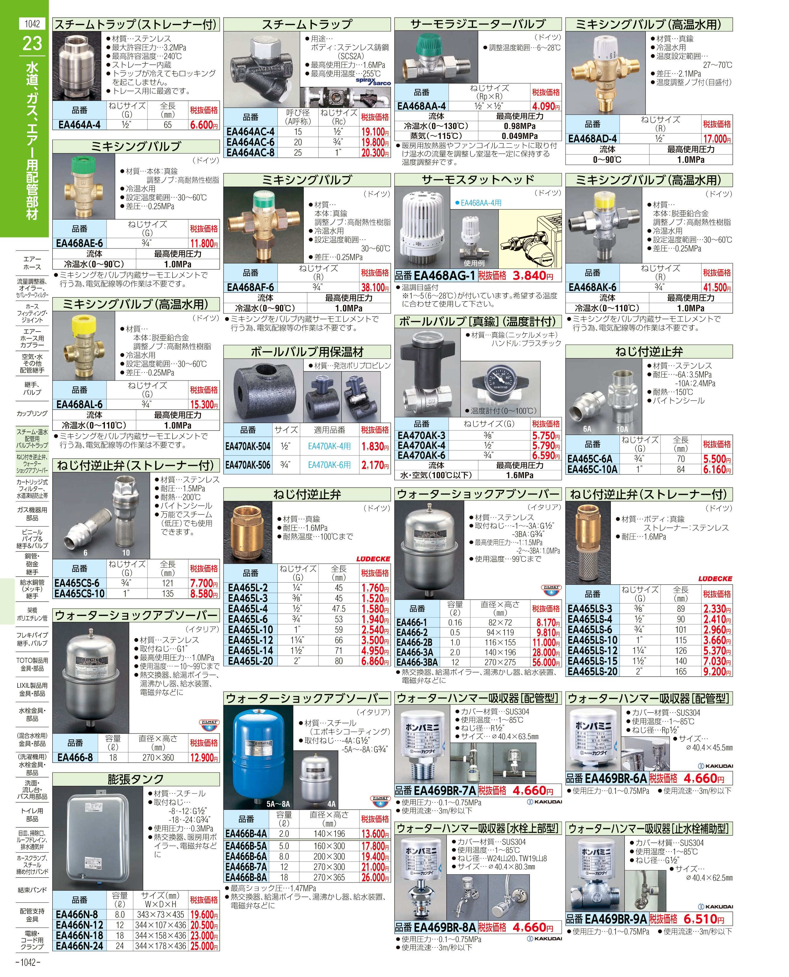 エスコ便利カタログ1042ページ