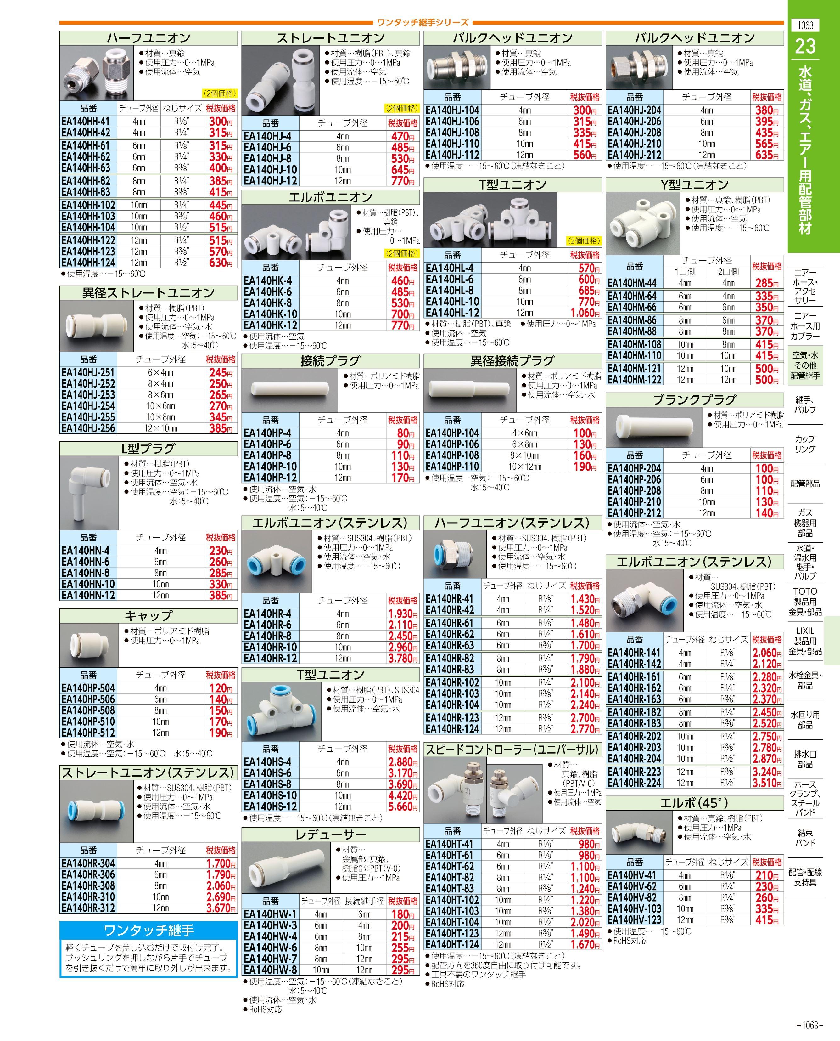 エスコ便利カタログ1063ページ