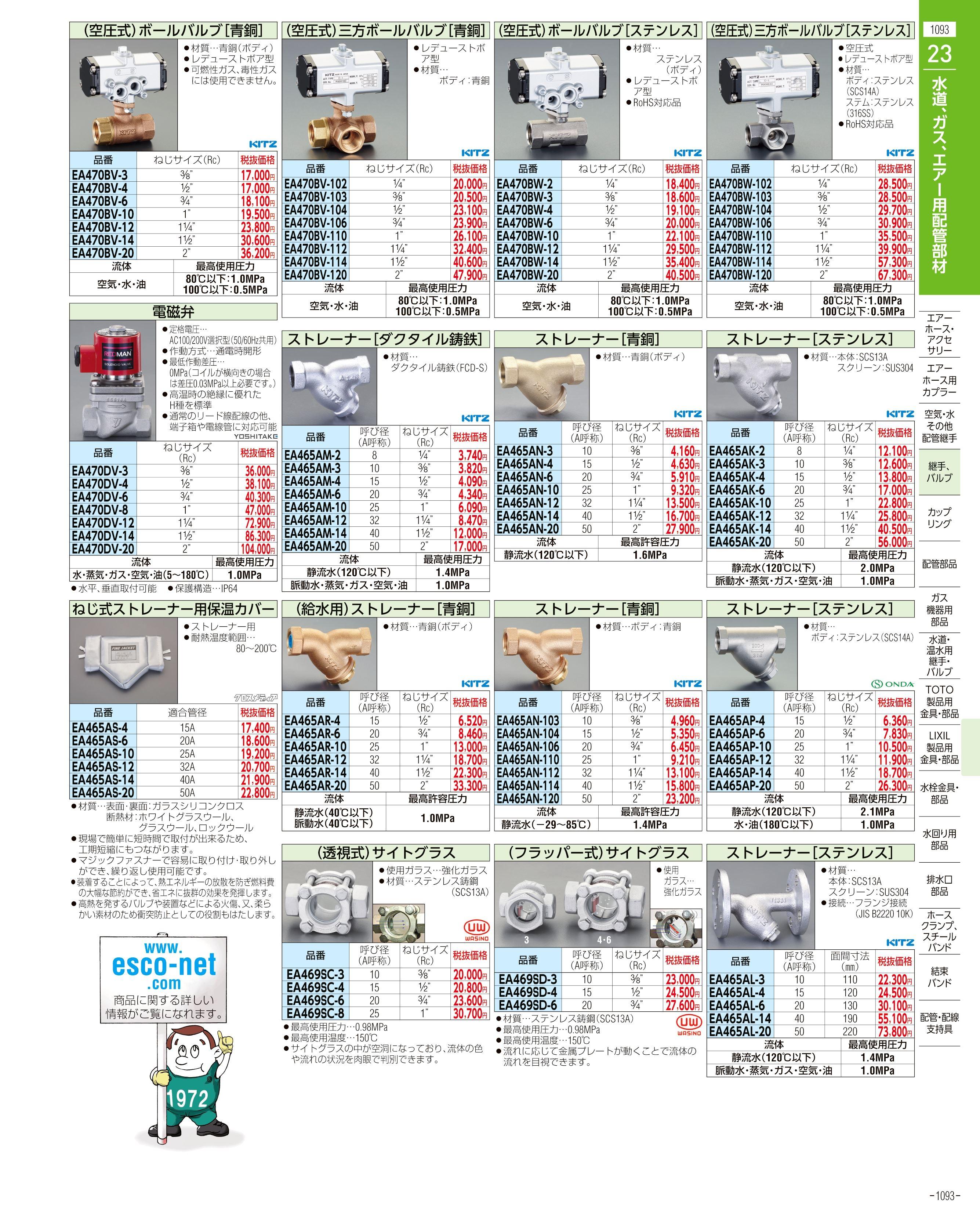 エスコ便利カタログ1093ページ