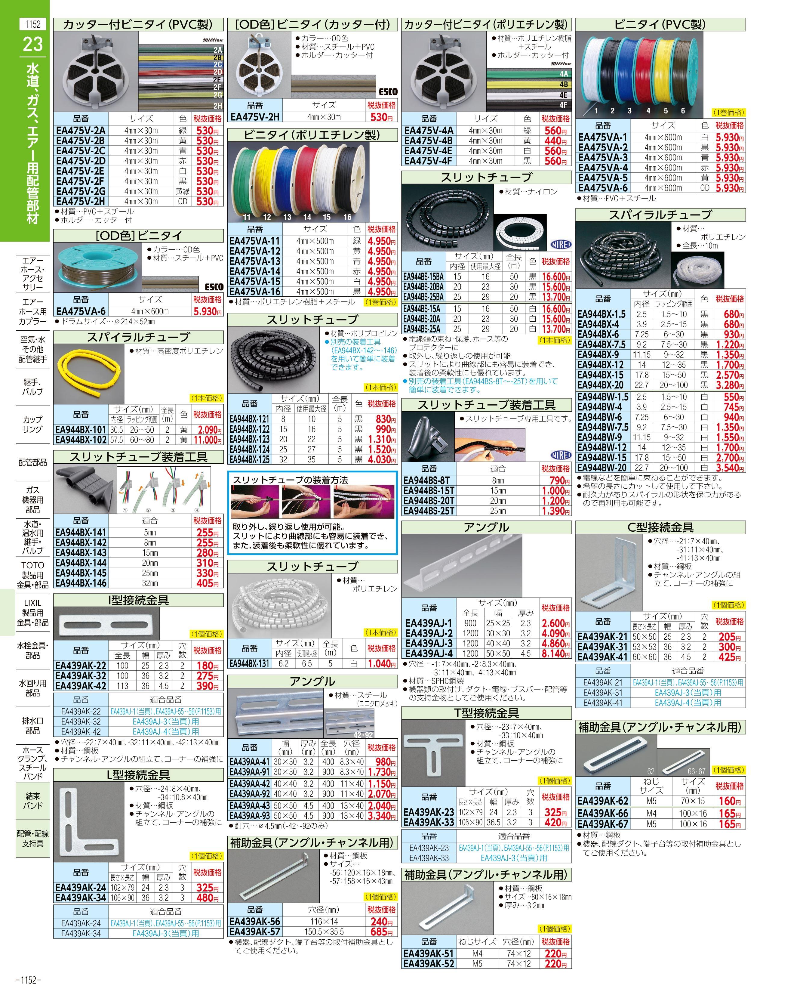 エスコ便利カタログ1152ページ